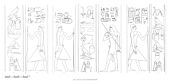 Drawings: G 7101: relief from Court C, S wall, pillars and jambs