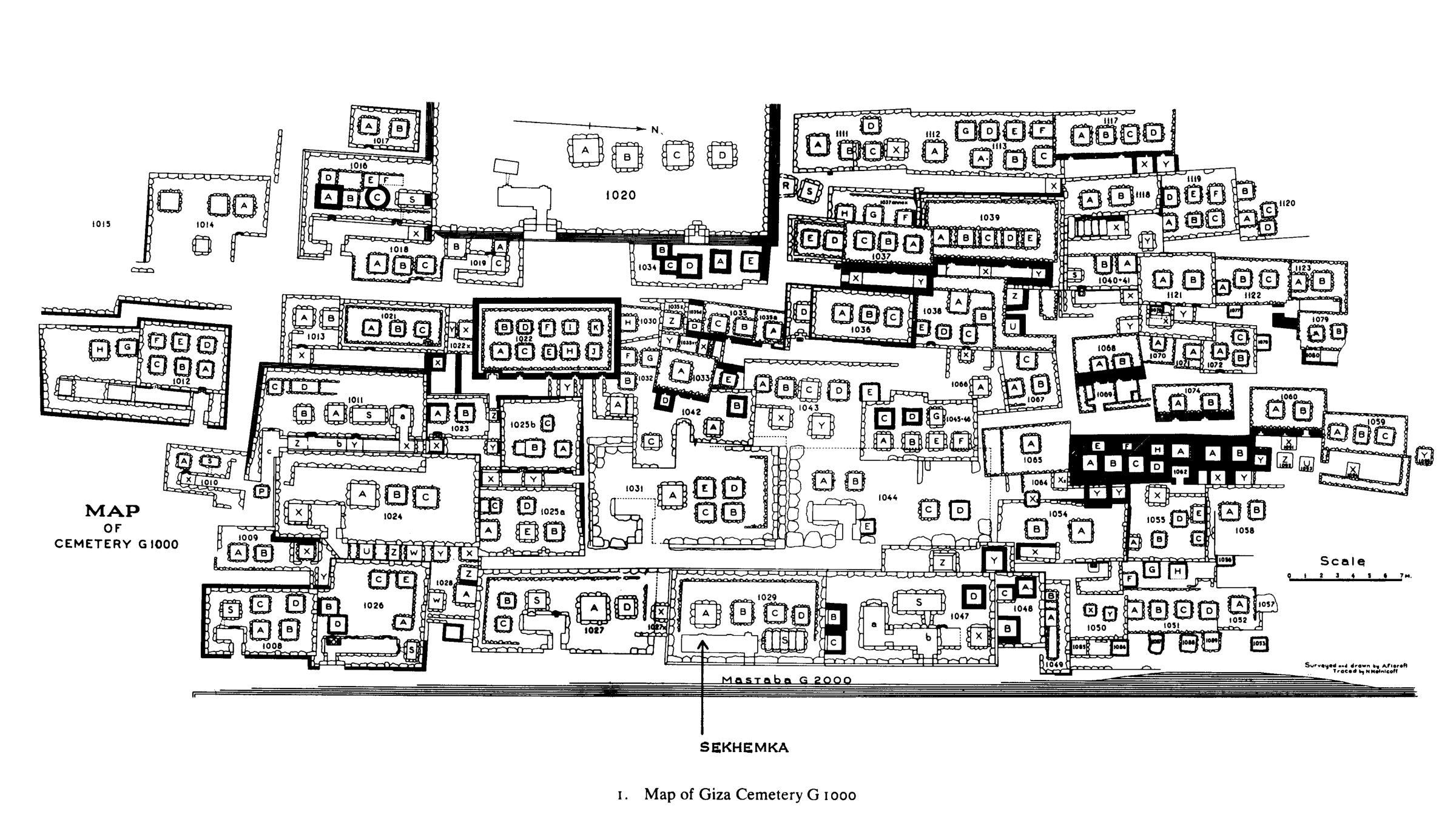 Maps and plans: Plan of Cemetery G 1000