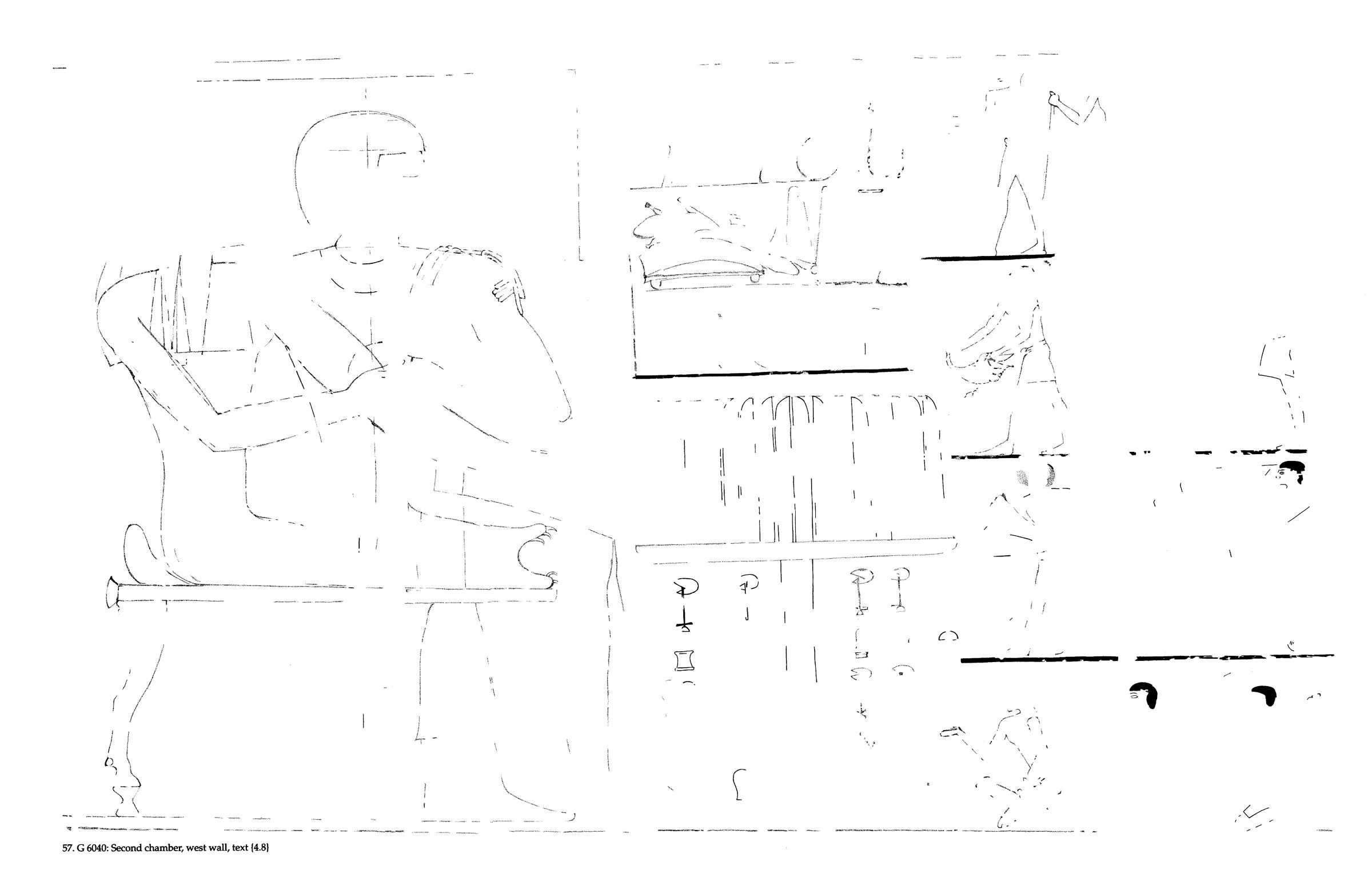 Drawings: G 6040: relief from second chamber, W wall