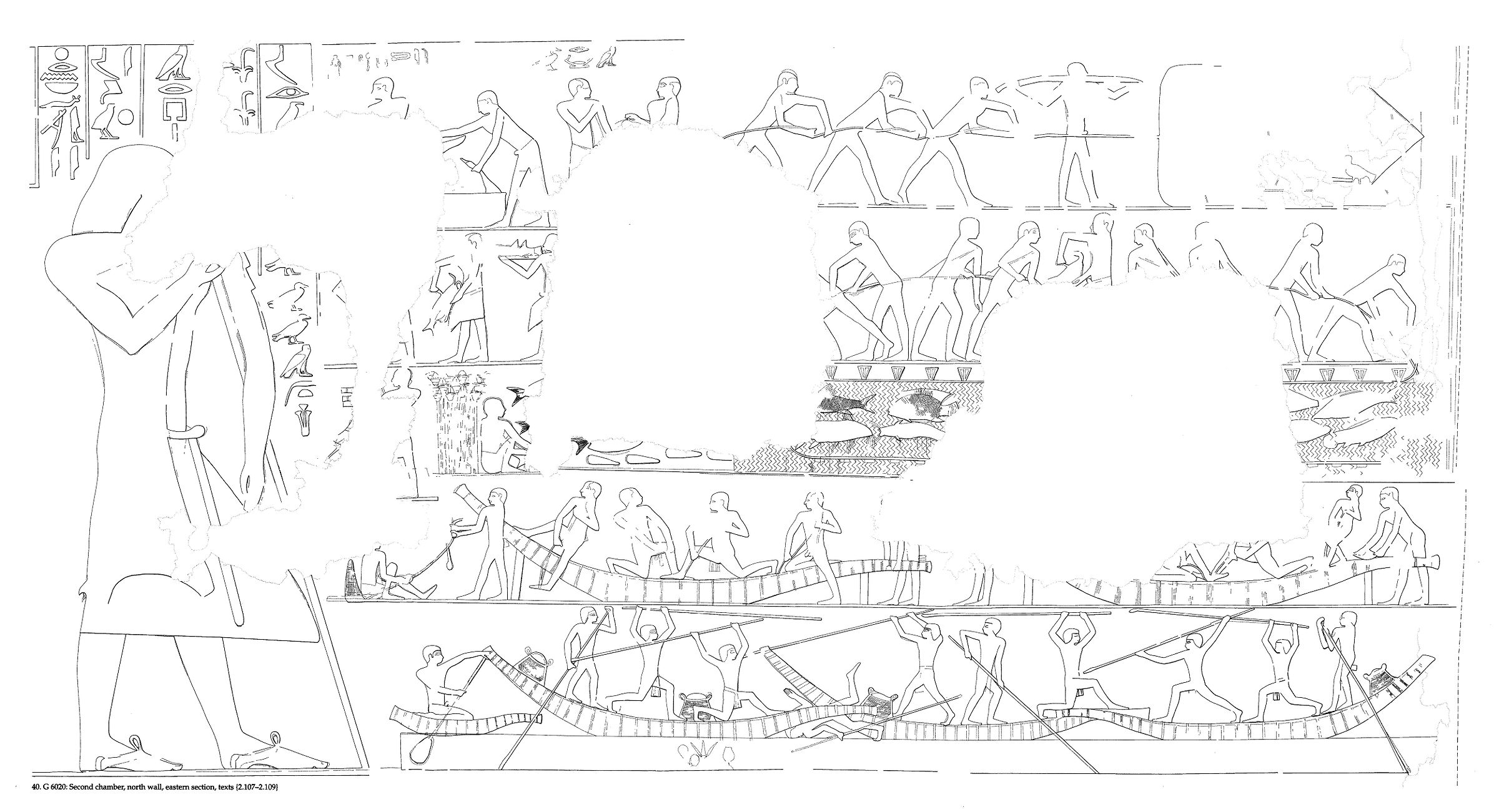Drawings: G 6020: relief from second chamber, N wall