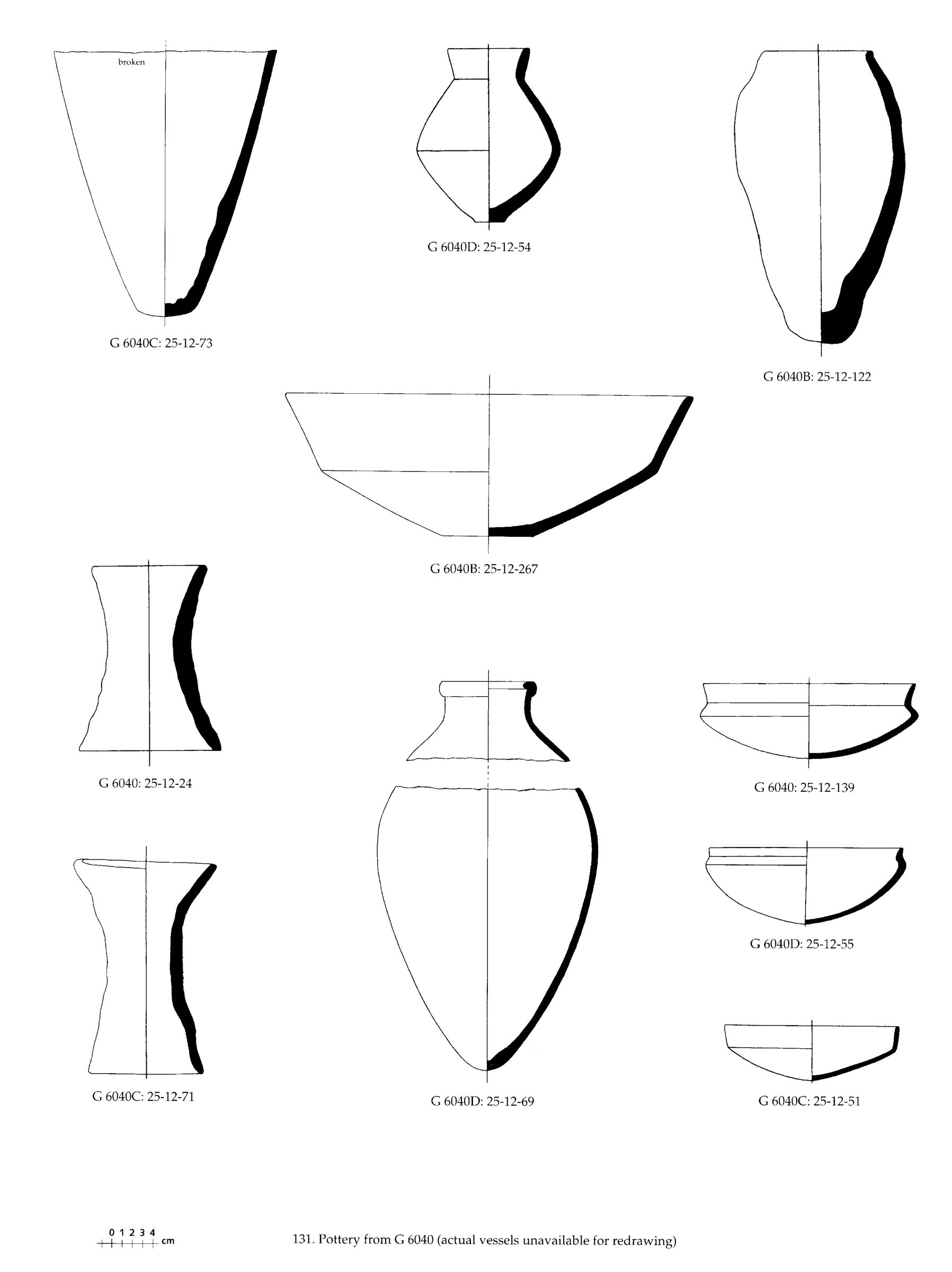 Drawings: Pottery from G 6040 and G 6051