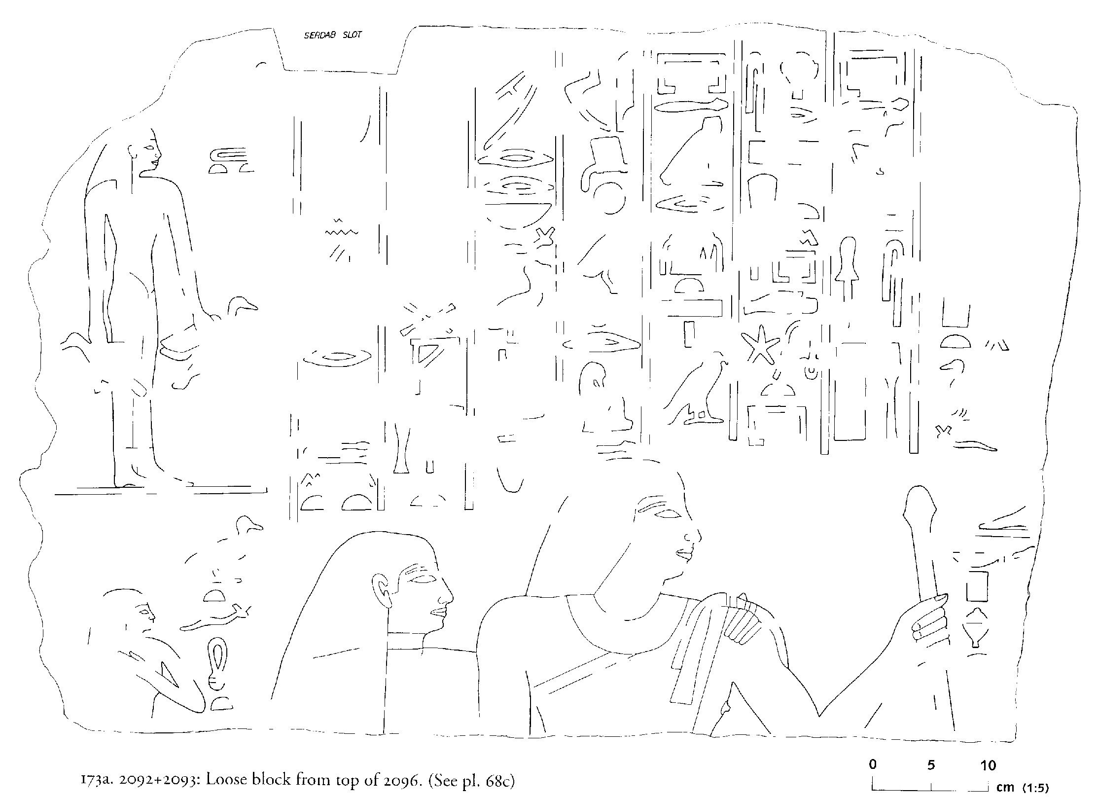 Drawings:  G 2096 (originally G 2092-2093): relief from block