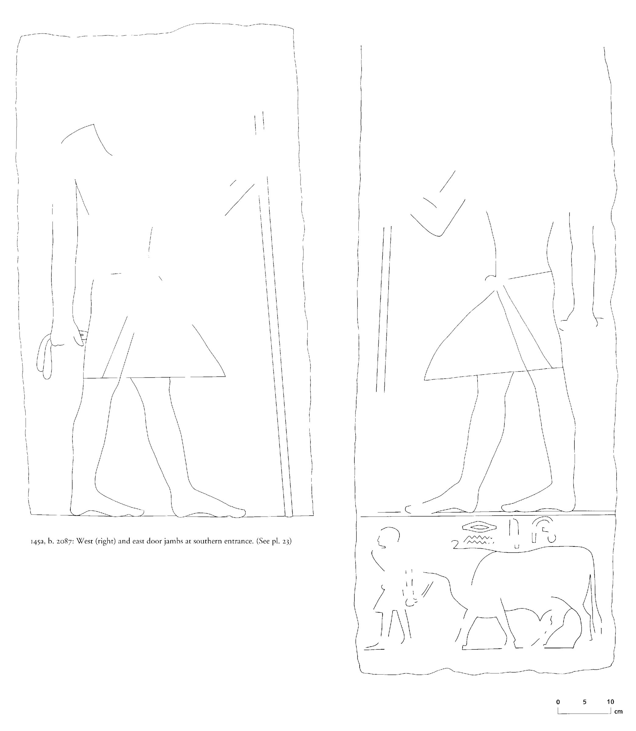 Drawings: G 2087: relief from S entrance, jambs
