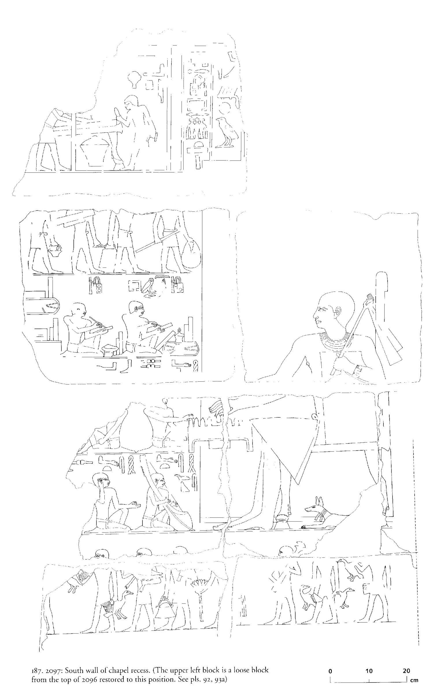 Drawings: G 2097: chapel recess, S wall
