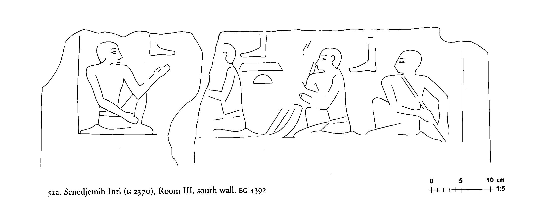 Drawings: G 2370: relief from Room III, S wall