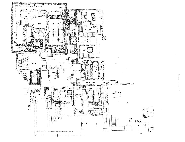 Maps and plans: Senedjemib Complex, Plan: G 2370, G 2372, G 2374, G 2375, G 2376, G 2377, G 2378, G 2379, G 2381, G 2382, G 2383, G 2384, G 2385, G 2386, G 2387, G 2389, G 2390, G 2391, G 2450, G 2451