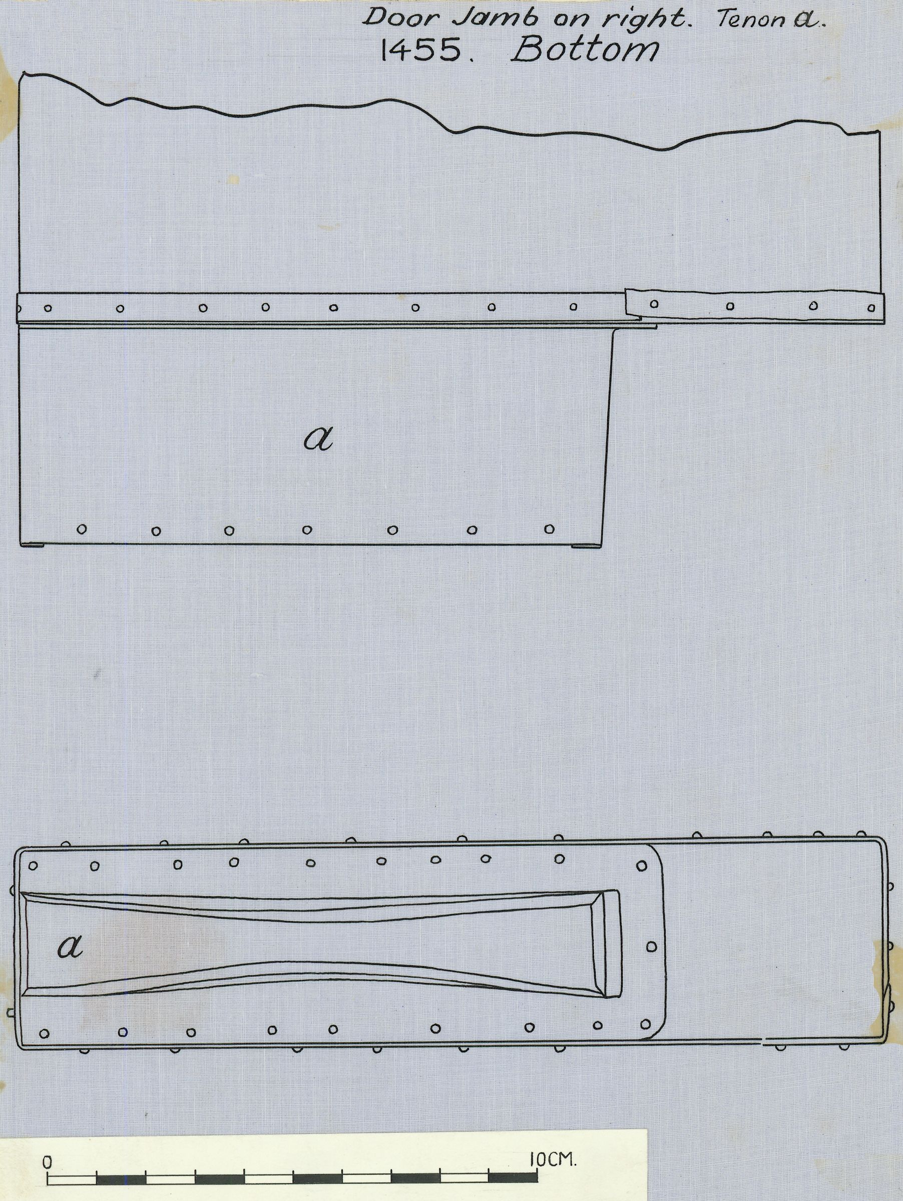 Drawings: G 7000 X: bed canopy, joining of right jamb with socket in floor beam