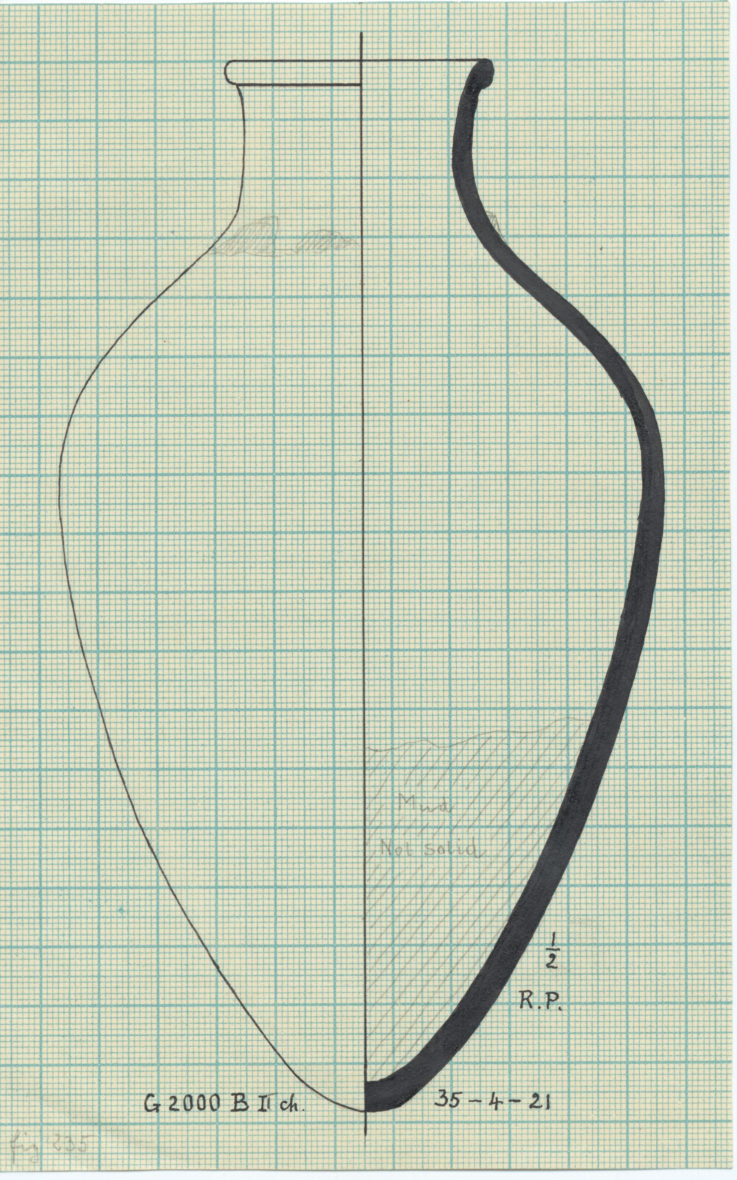 Drawings: G 2000, Shaft B I: pottery, jar