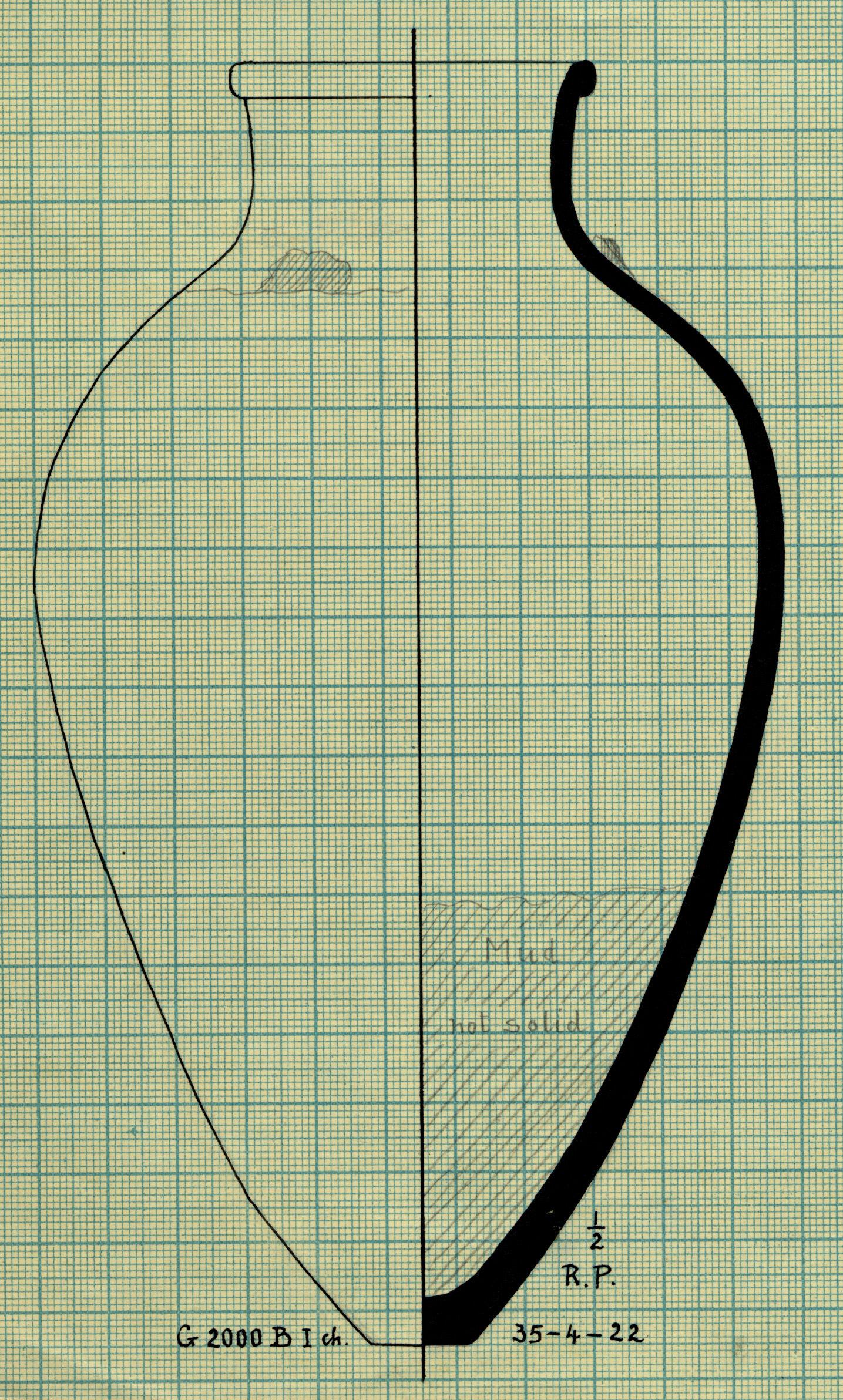 Drawings: G 2000, Shaft B, chamber I: pottery, jar