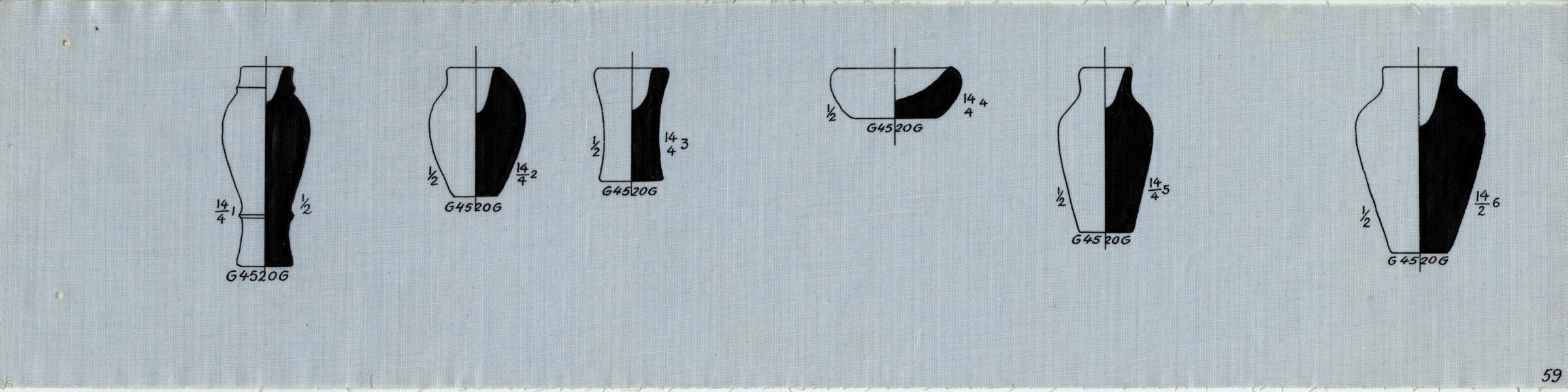 Drawings: G 4520, Shaft b: pottery, model jars