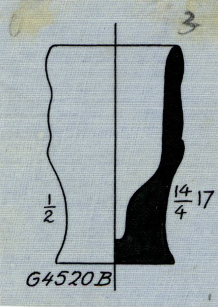Drawings: G 4520, Shaft b: pottery, model jar