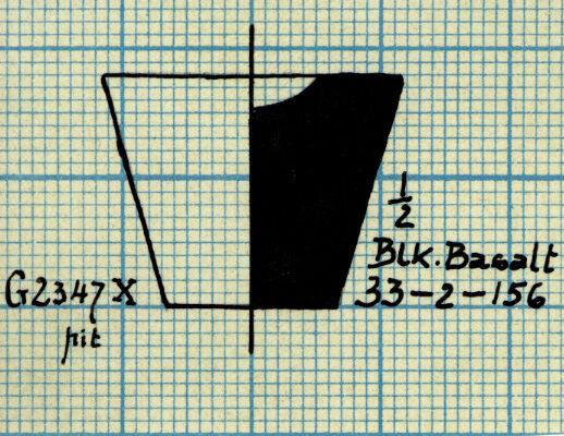 Drawings: G 2347, Shaft X (= G 5562, Shaft A): model cup, basalt