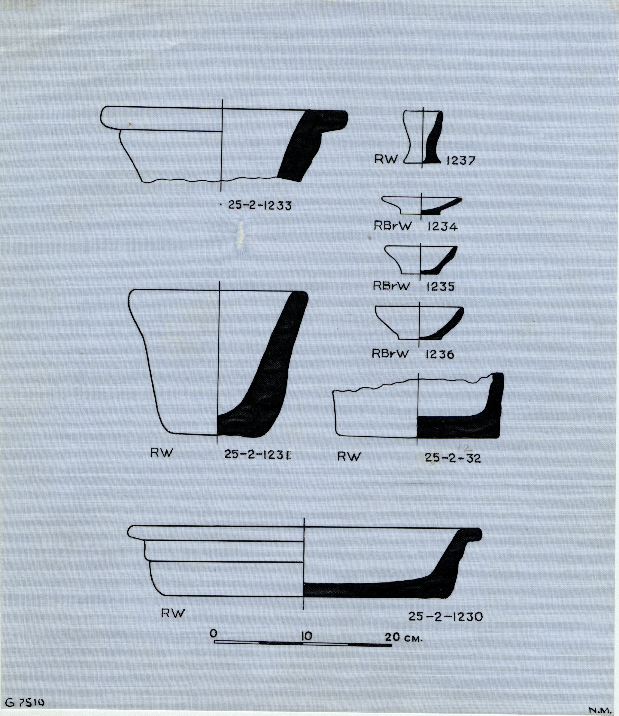 Drawings: G 7510: pottery
