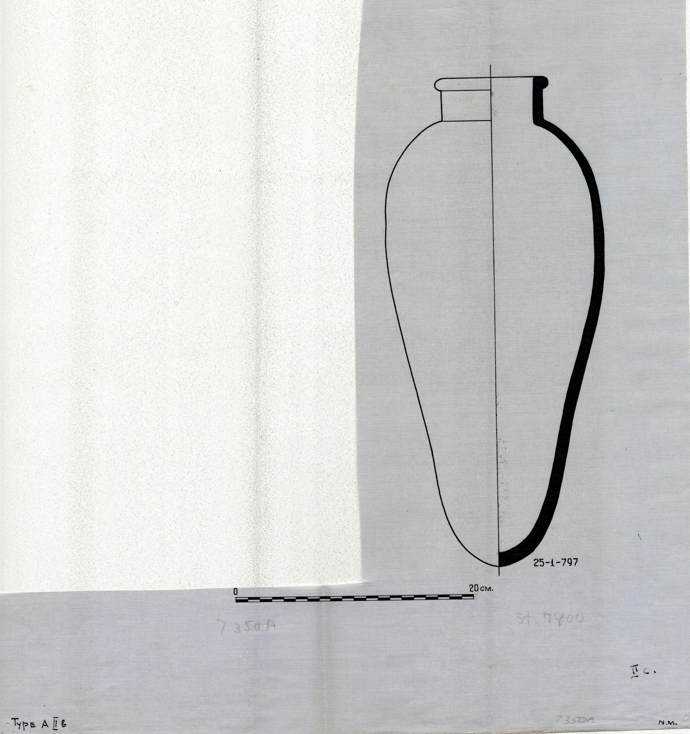 Drawings: Street G 7400, S of G 7420: pottery, jar