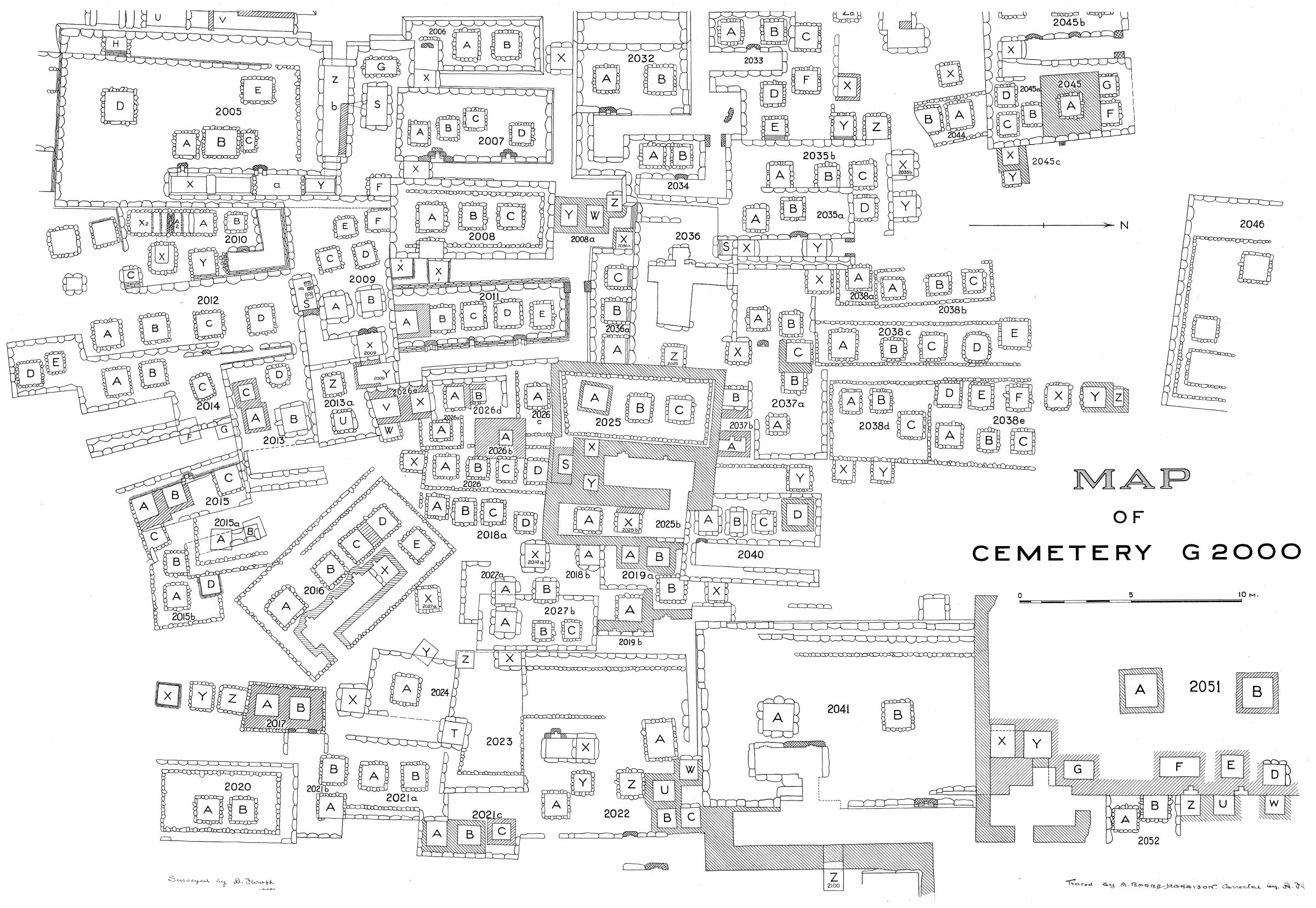 Maps and plans: Plan of cemetery G 2000