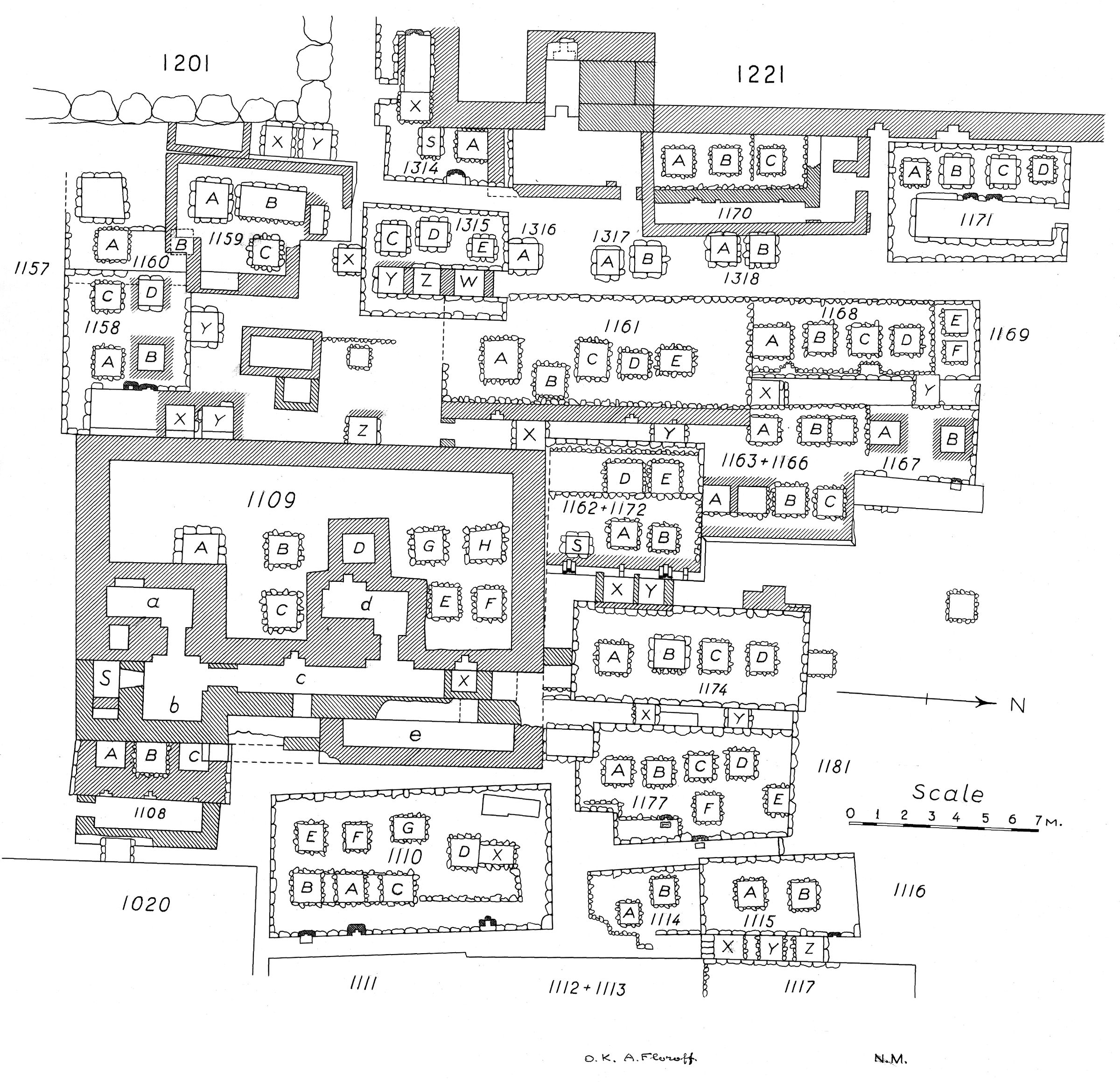 Maps and plans: Plan of cemetery G 1100 (2 of 2)