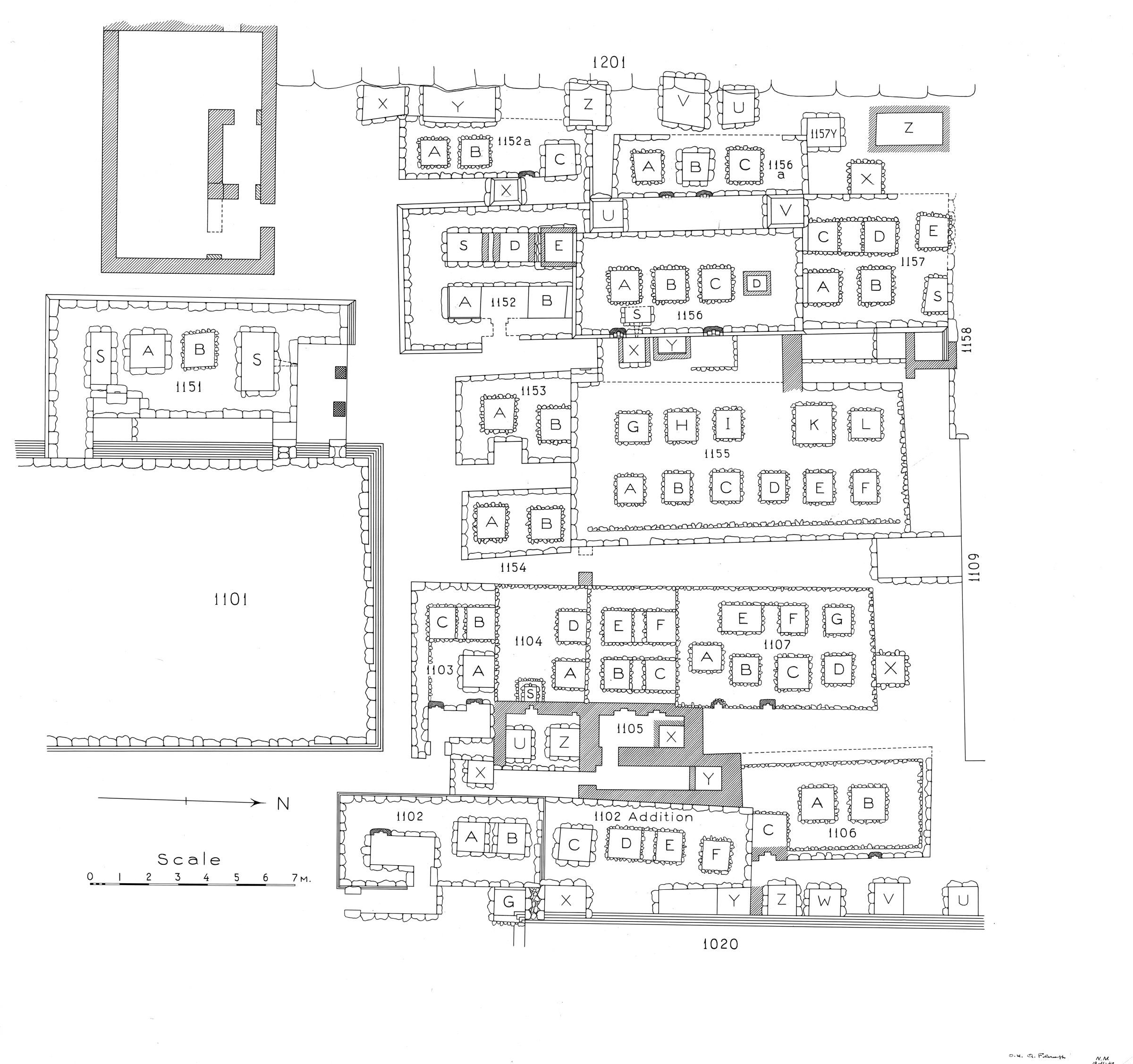Maps and plans: Plan of cemetery G 1100 (1 of 2)