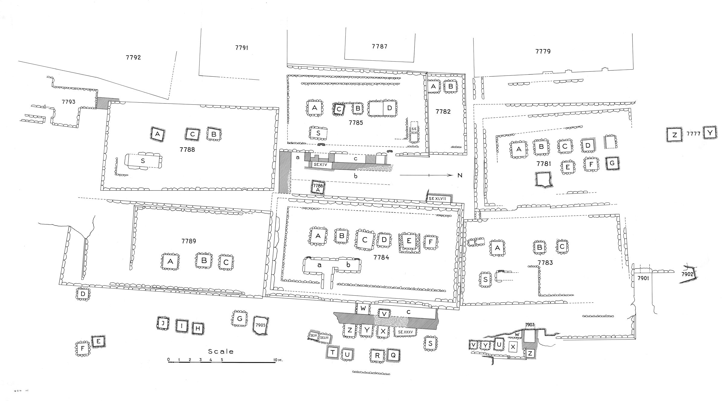 Maps and plans: Plan of cemetery G 7000: G 7700s (2 of 2)