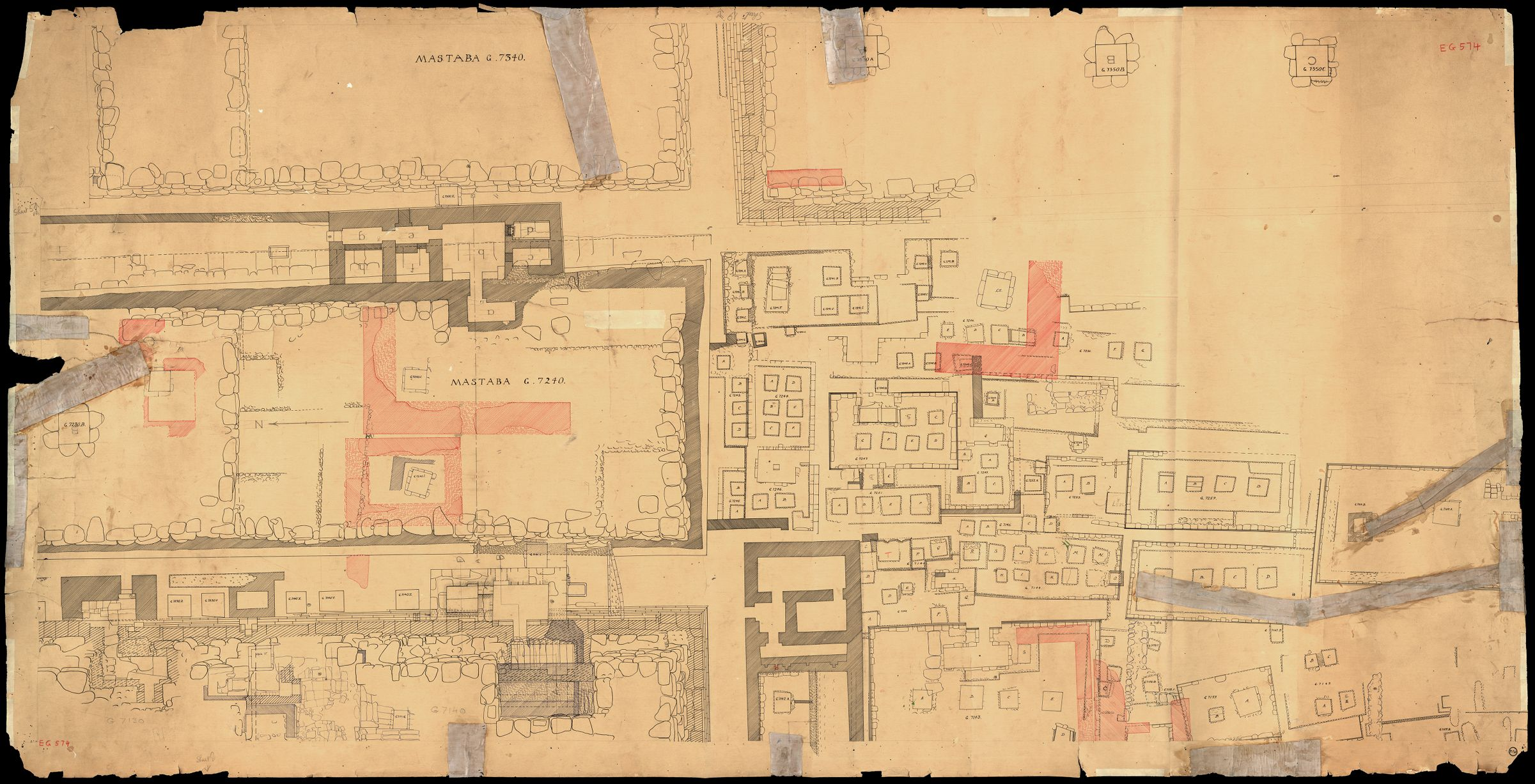 Maps and plans: Plan of cemetery G 7000: G 7230-7240 and area southwards