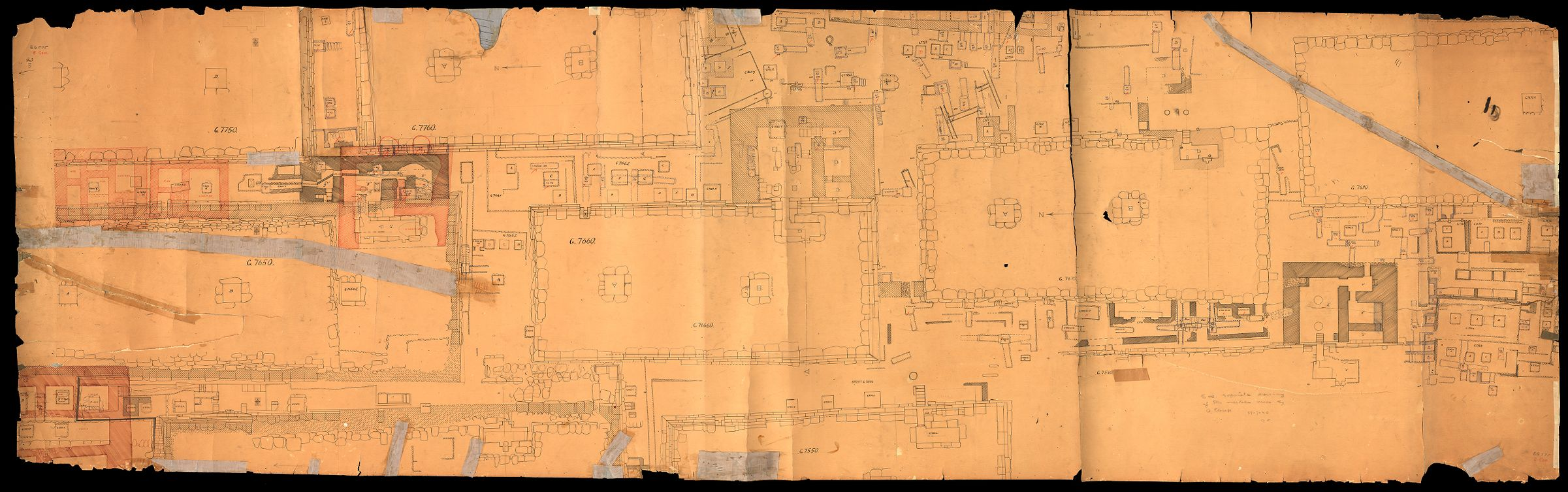Maps and plans: Plan of cemetery G 7000: G 7650 - G 7760