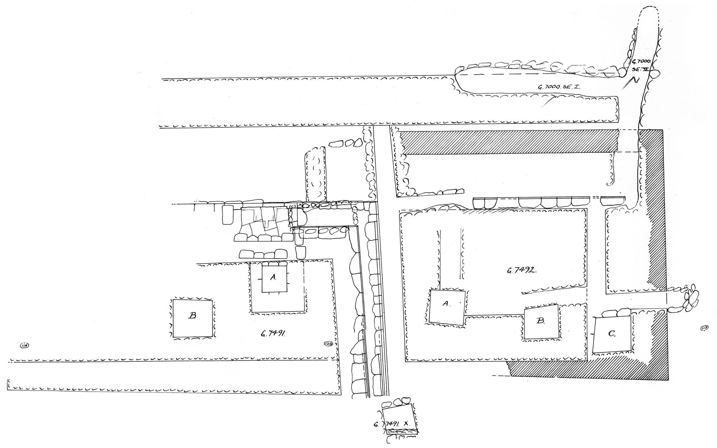 Maps and plans: Plan of G 7491 and G 7492, with G 7000 SE 1 and G 7000 SE 2