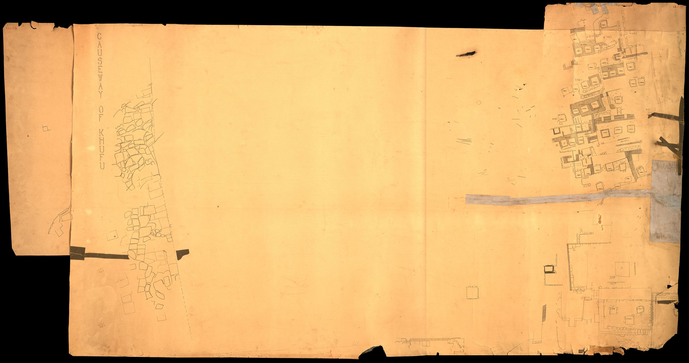 Maps and plans: Plan of cemetery G 7000: G 7800s and G 7900s, Khufu causeway
