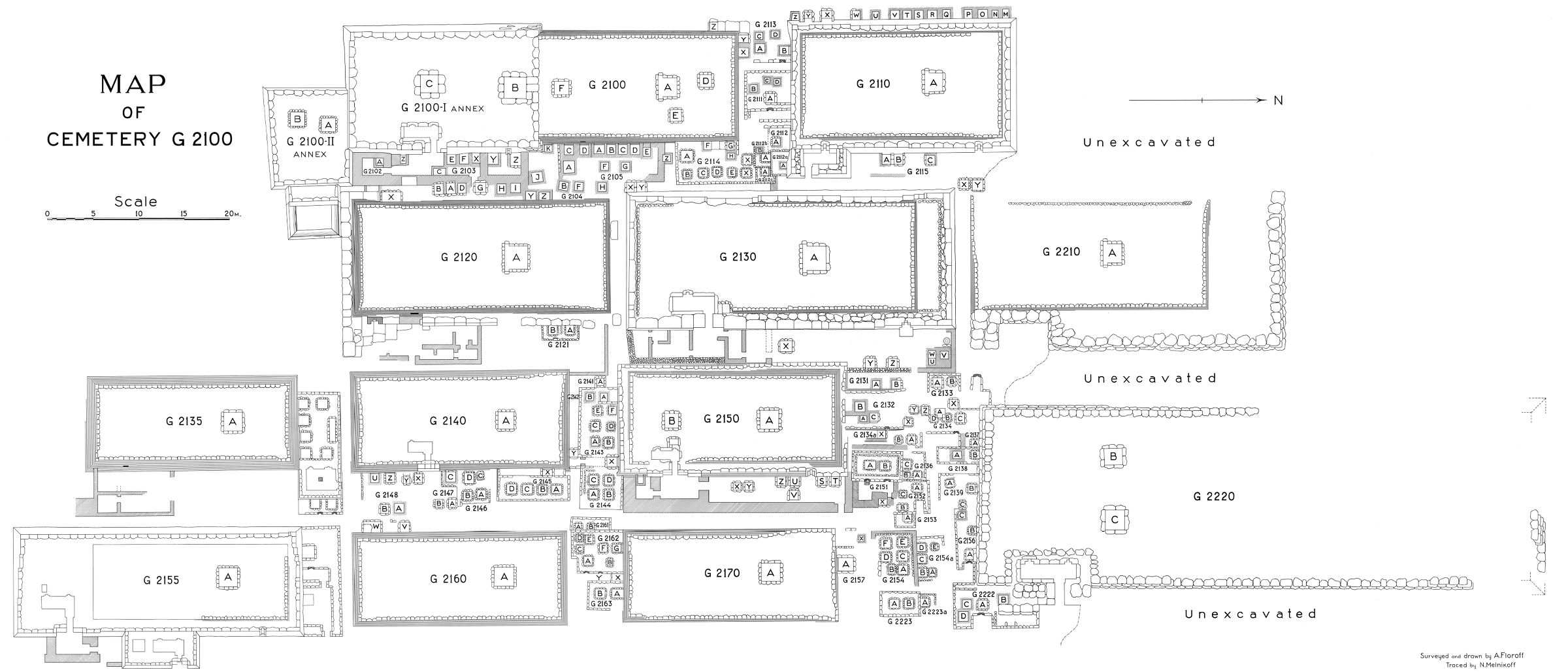 Maps and plans: Plan of Cemetery G 2100