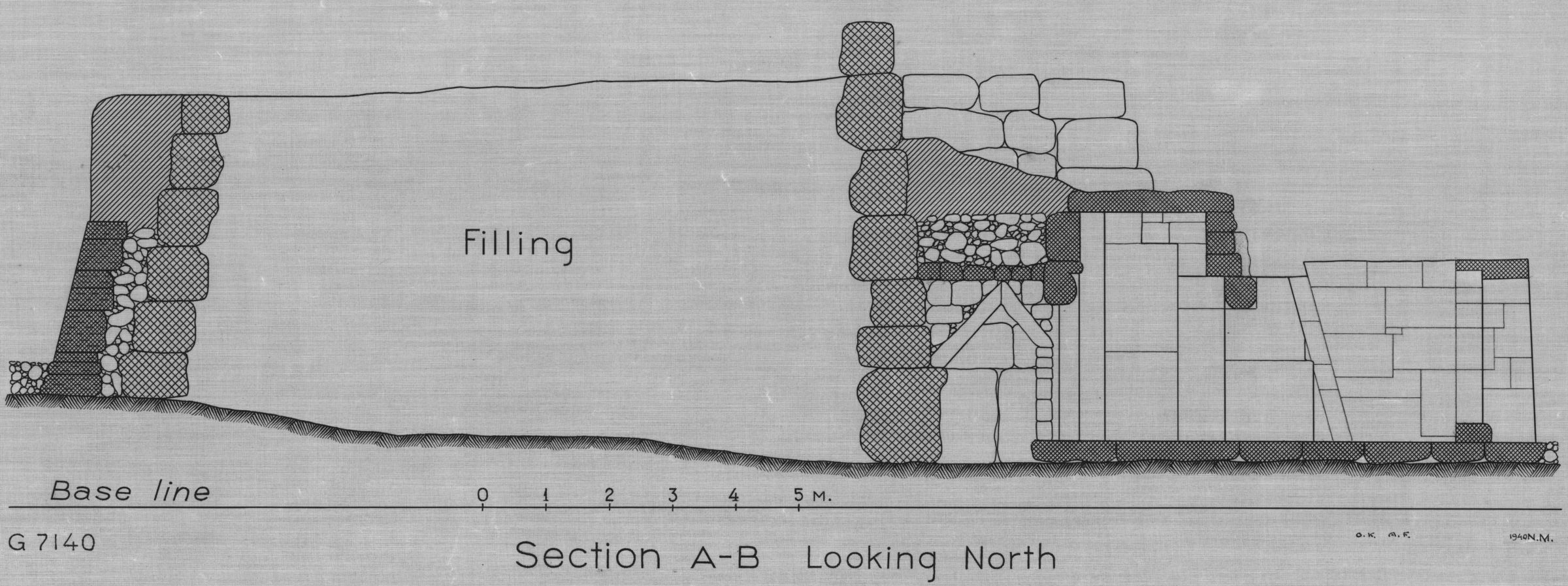 Maps and plans: G 7130-7140: G 7140, section, looking N