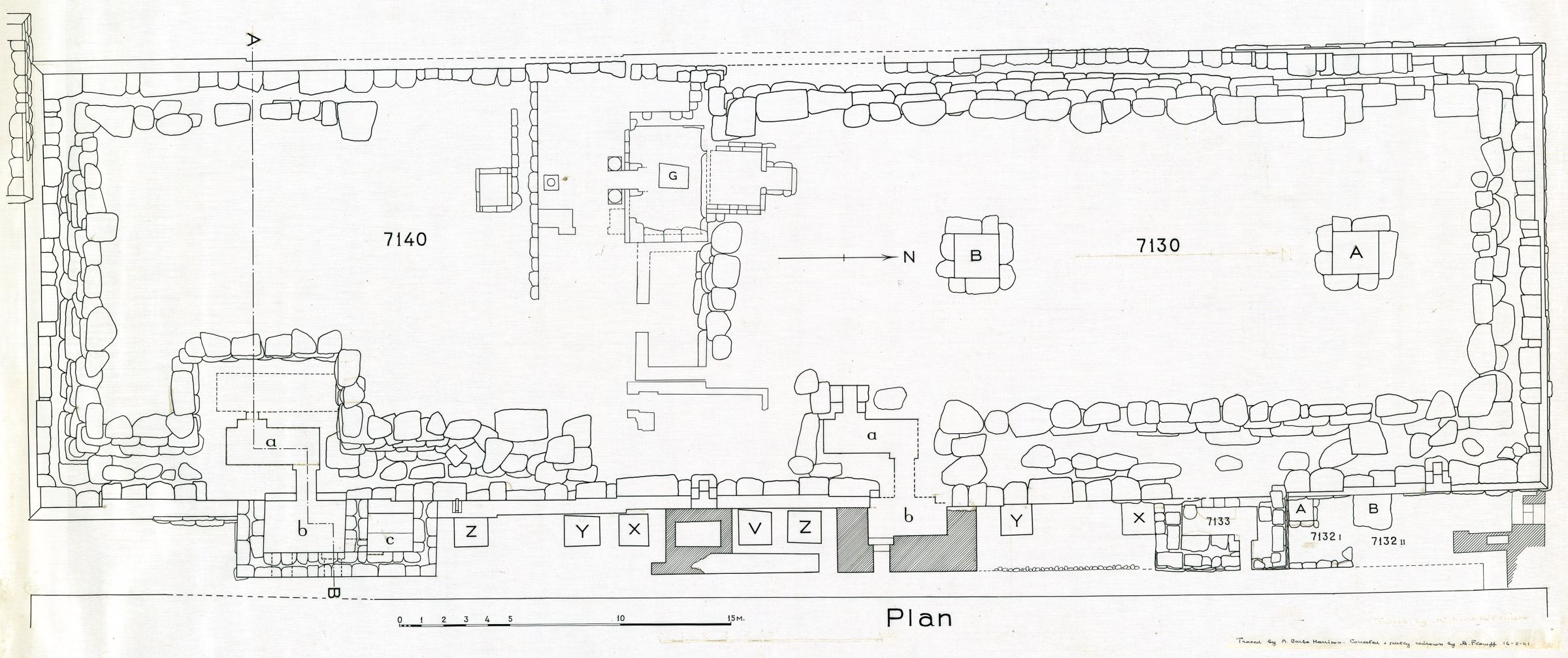 Maps and plans: Plan of G 7130-7140