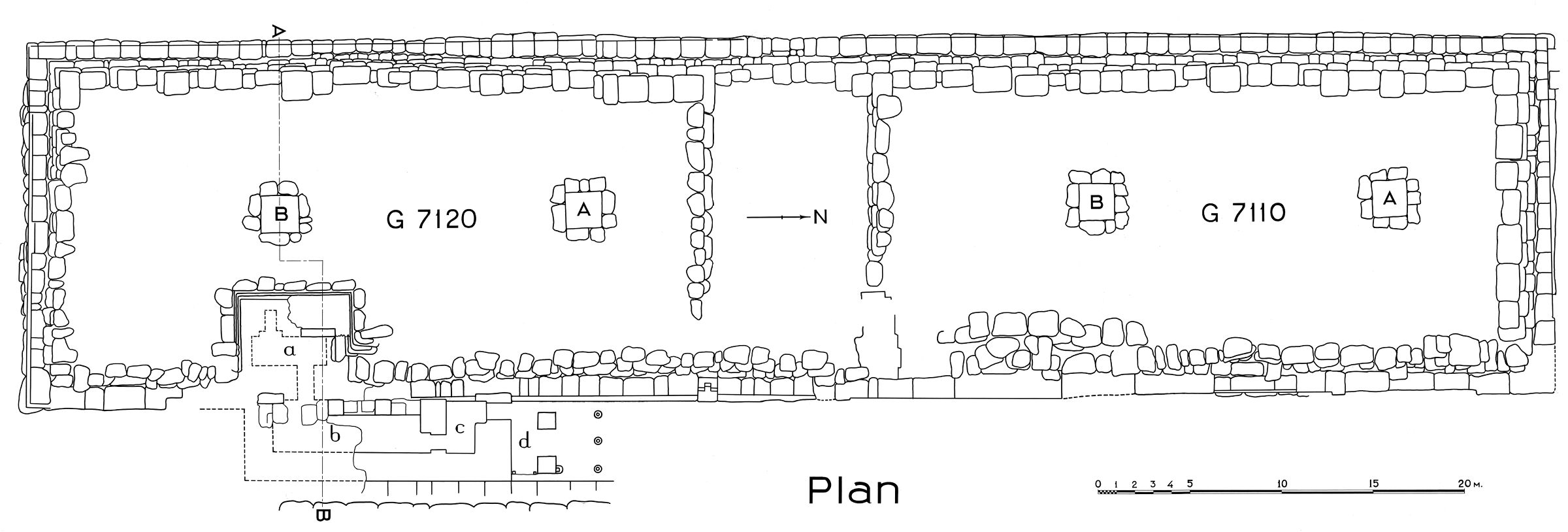 Maps and plans: Plan of G 7110-7120