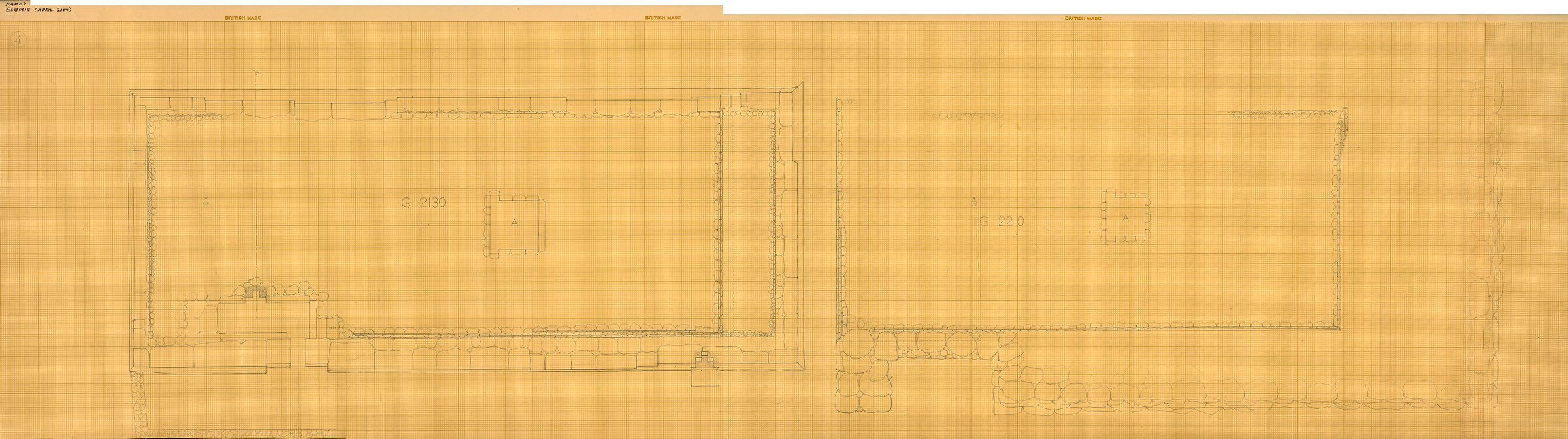 Maps and plans: Plan of G 2130 and G 2210