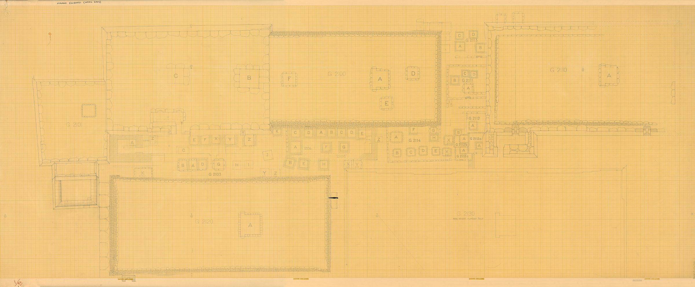 Maps and plans: Plan of G 2100, G 2100-I, G 2100-II, G 2110, G 2120