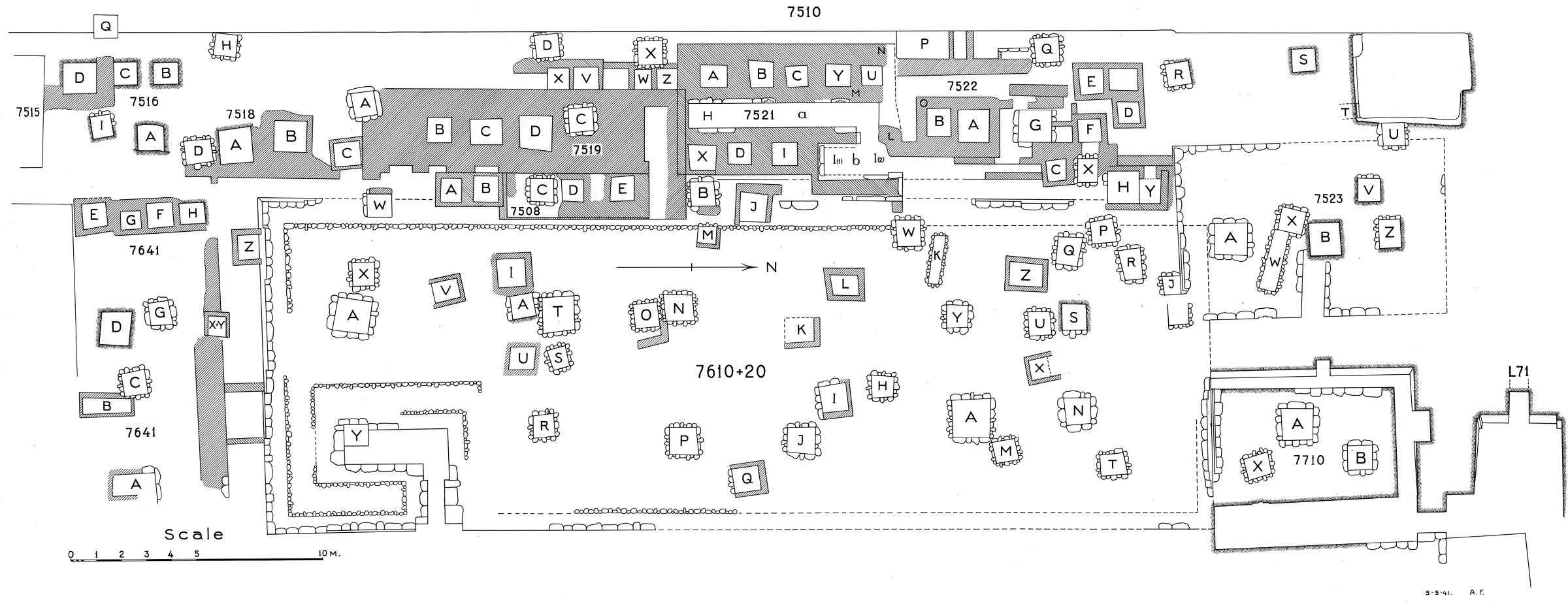 Maps and plans: Plan of cemetery G 7000: G 7500s and G 7600s