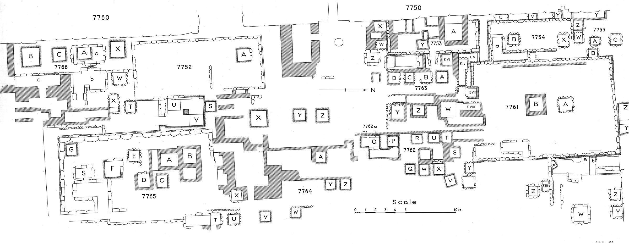 Maps and plans: Plan of cemetery G 7000: G 7700s (1 of 2)