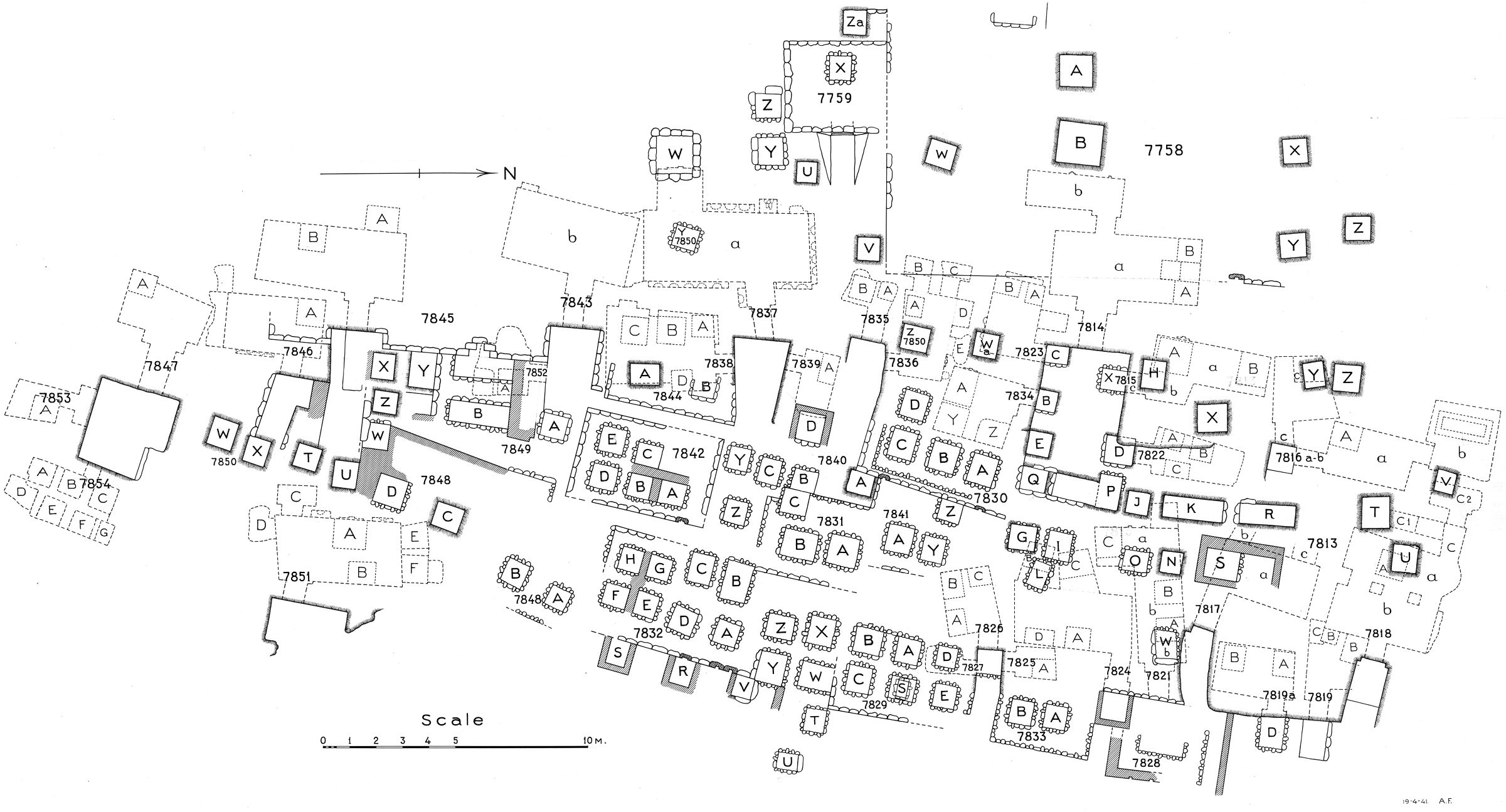 Maps and plans: Plan of cemetery G 7000: G 7800s (2 of 2)