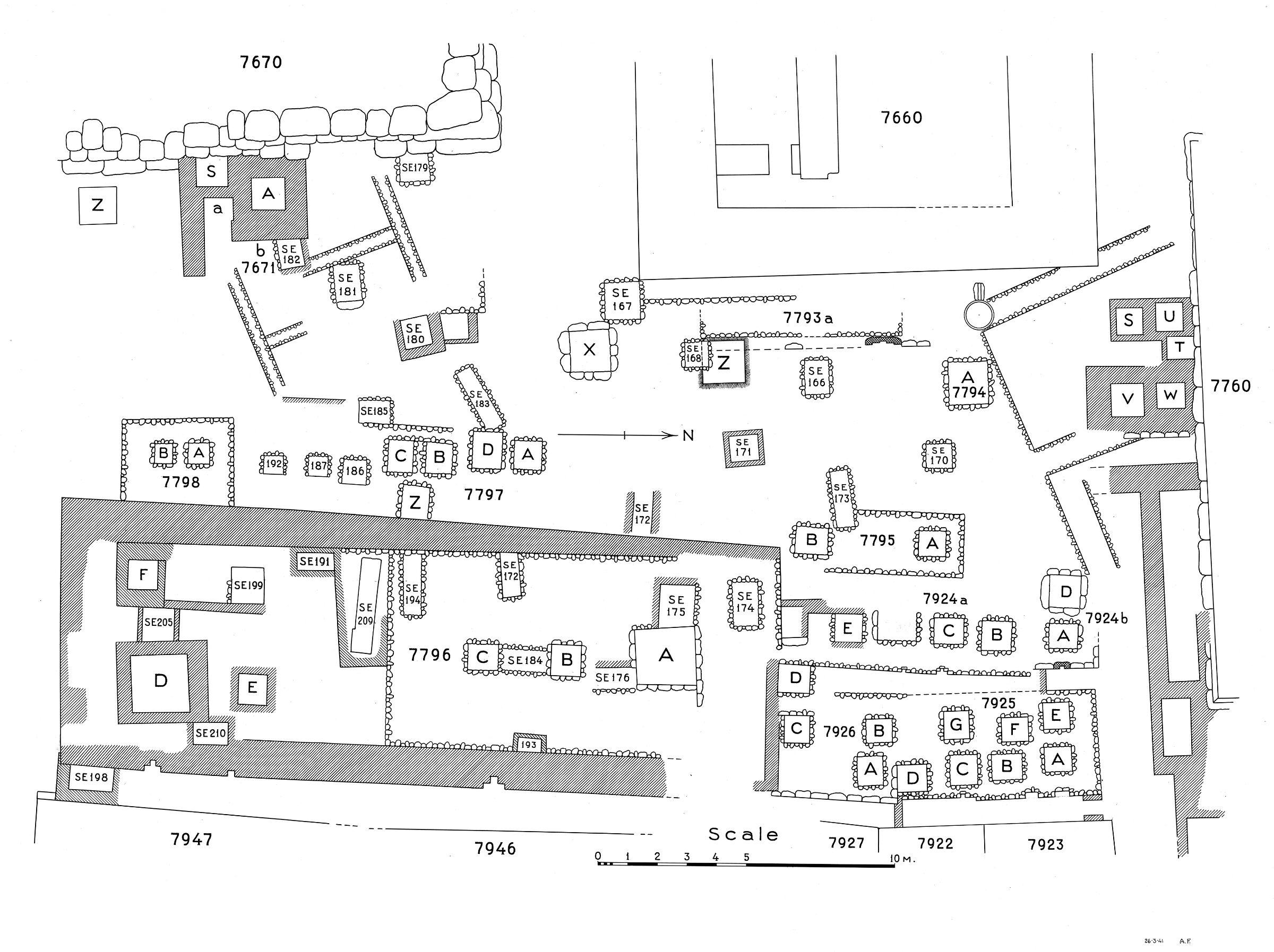 Maps and plans: Plan of cemetery G 7000: G 7600s, G 7700s, G 7900s (1 of 2)