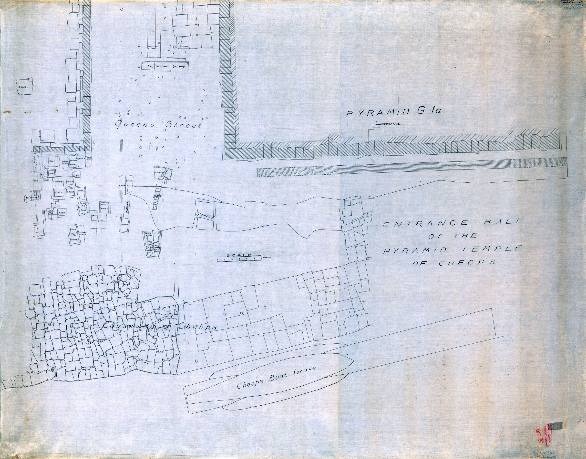 Maps and plans: Plan of cemetery G 7000: near G 7000 X