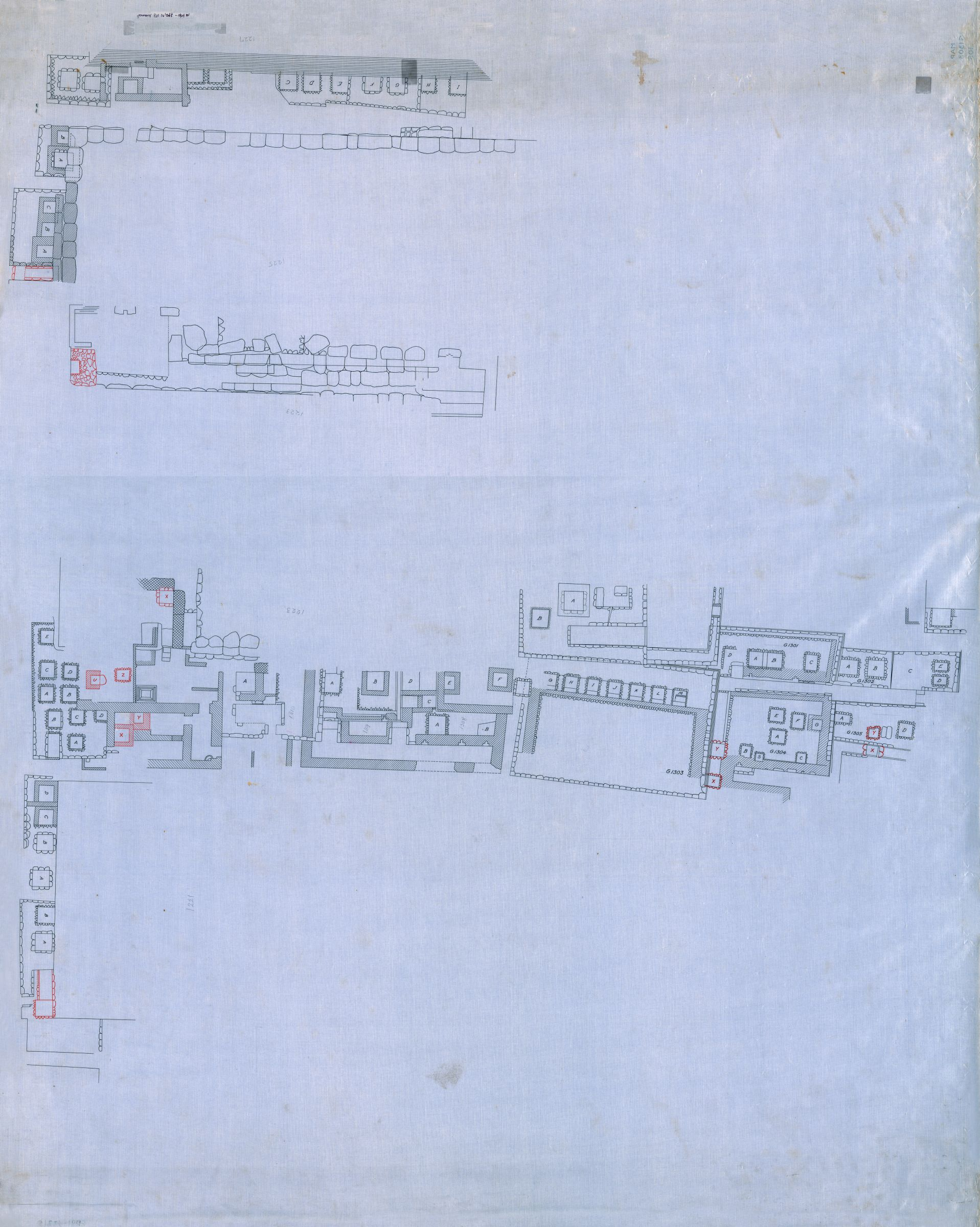 Maps and plans: Plan of G 1223 - G 1227, G 1301 - G 1310