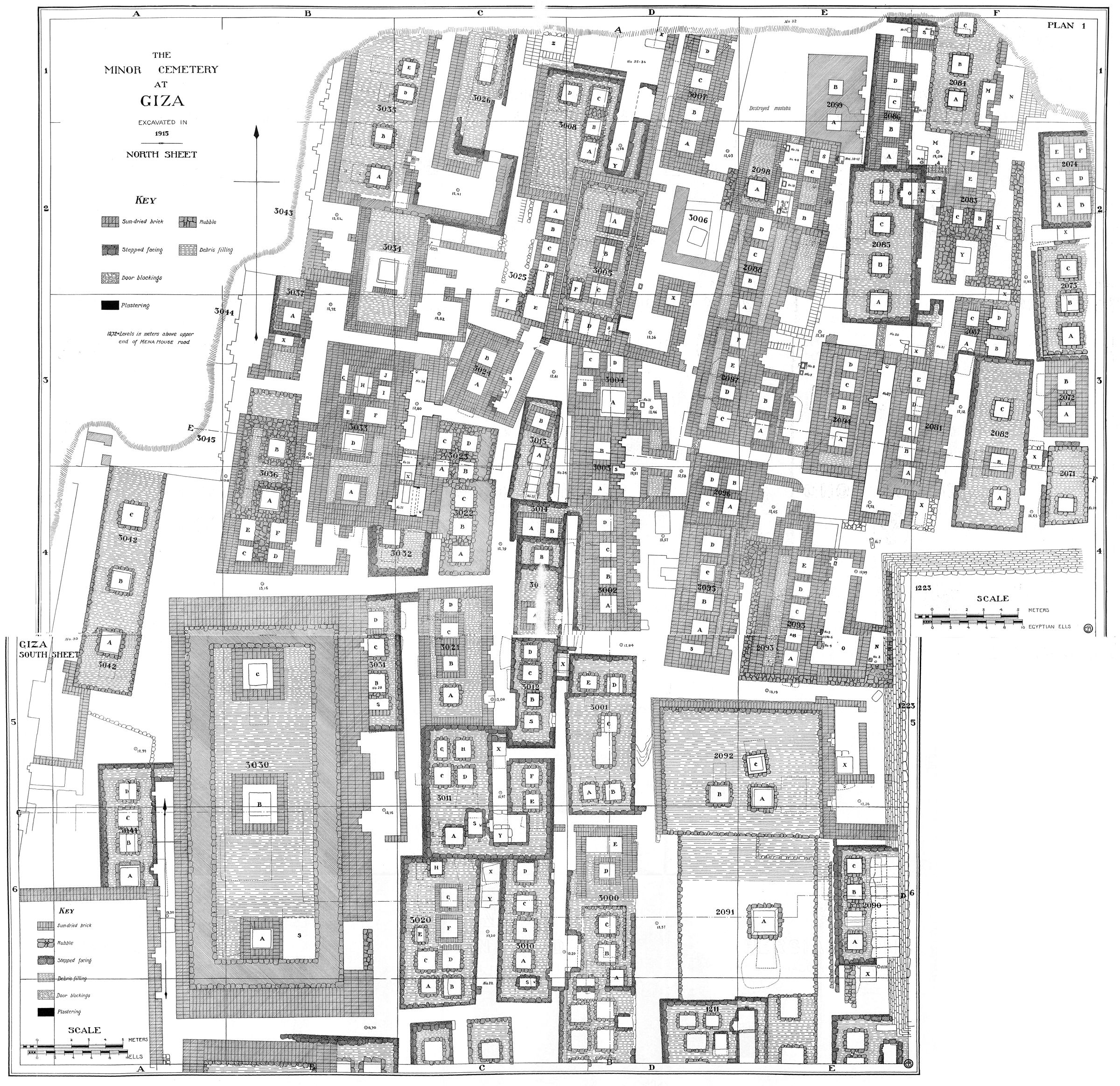 """Maps and plans: Plan of Fisher """"Minor Cemetery"""" G 3000"""