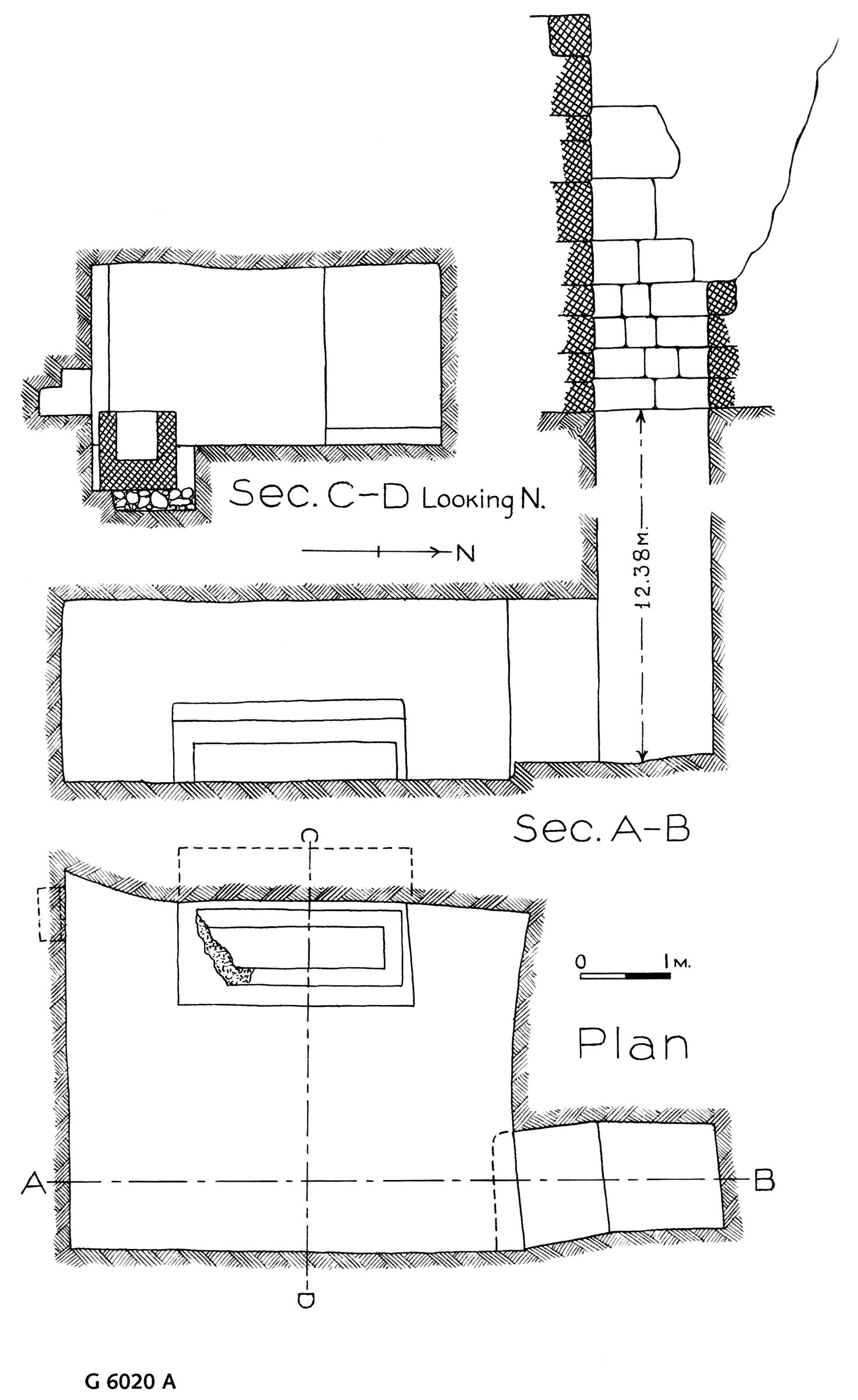 Maps and plans: G 6020, Shaft A