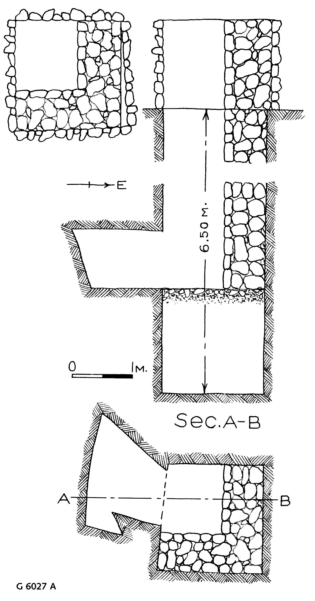 Maps and plans: G 6027, Shaft A