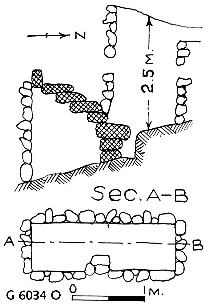 Maps and plans: G 6034, Shaft O