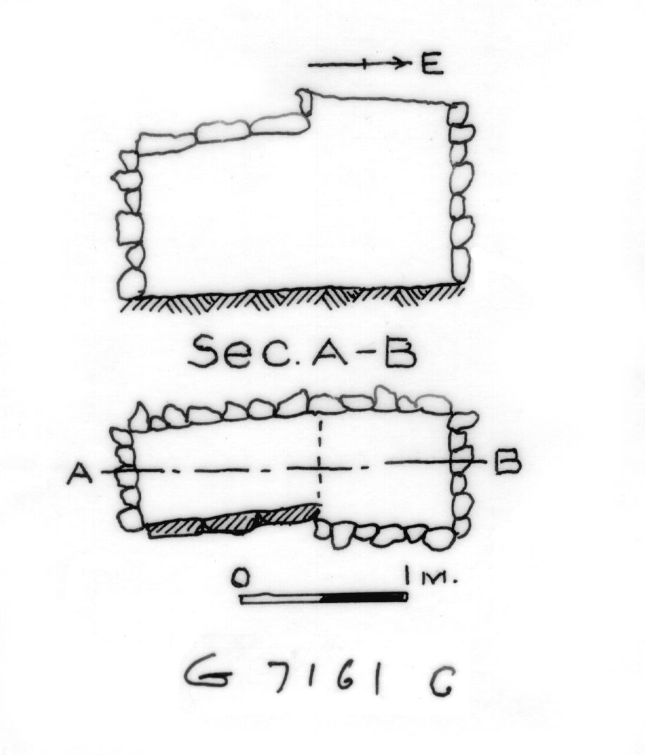 Maps and plans: G 7161, Shaft C