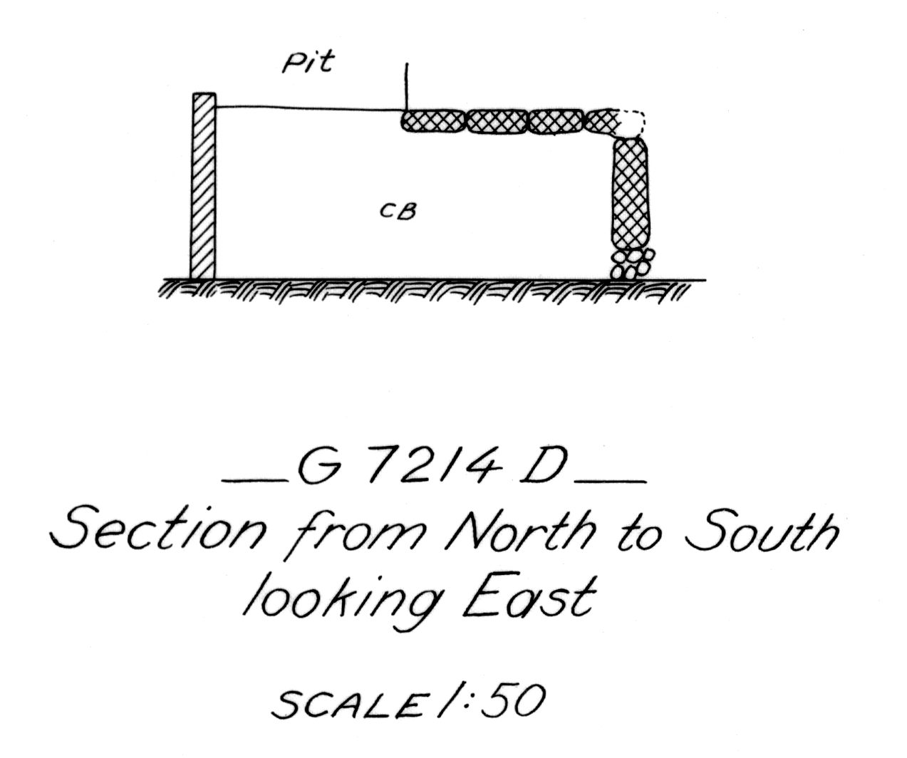 Maps and plans: G 7214, Shaft D