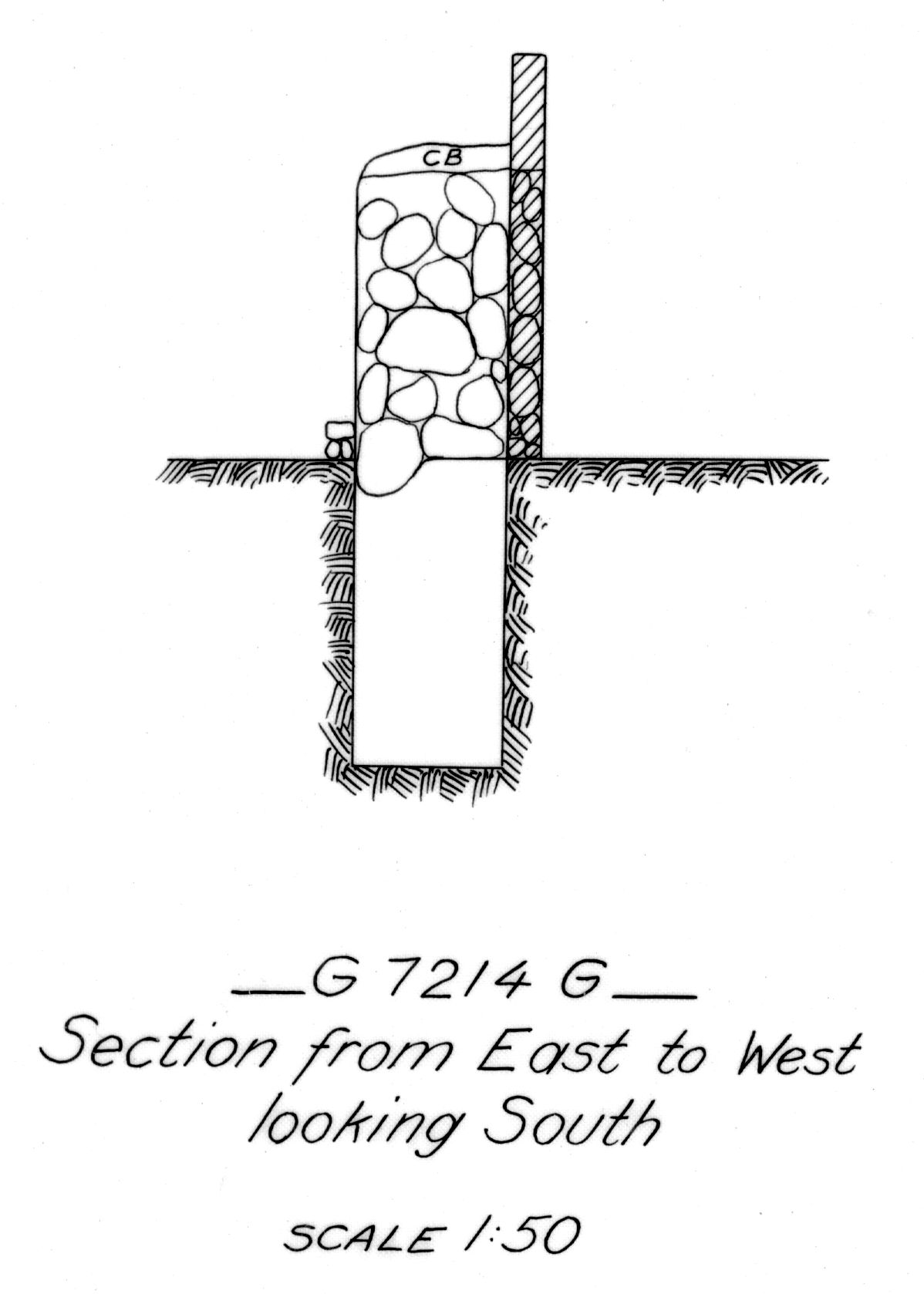 Maps and plans: G 7214, Shaft G