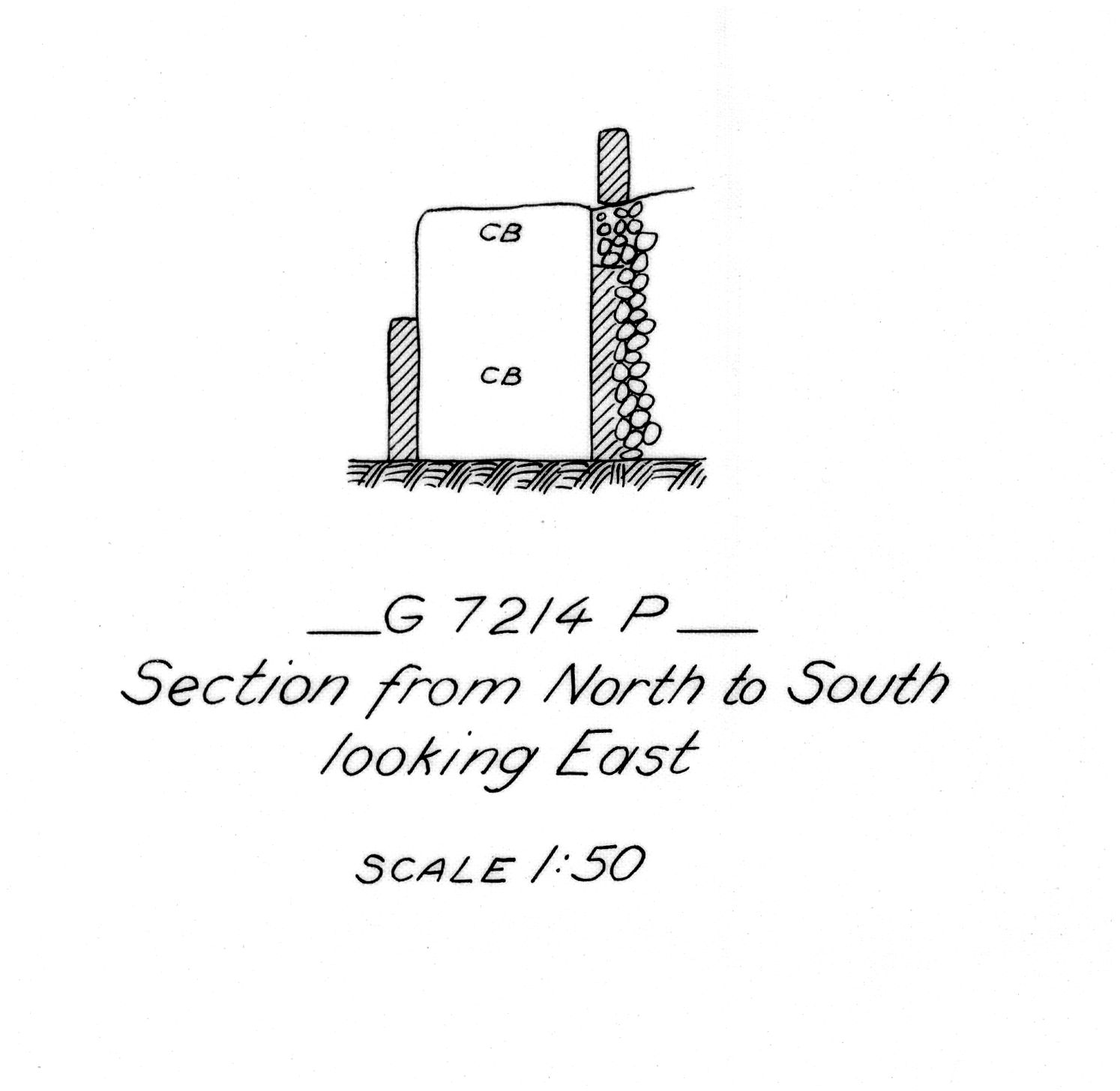 Maps and plans: G 7214, Shaft P