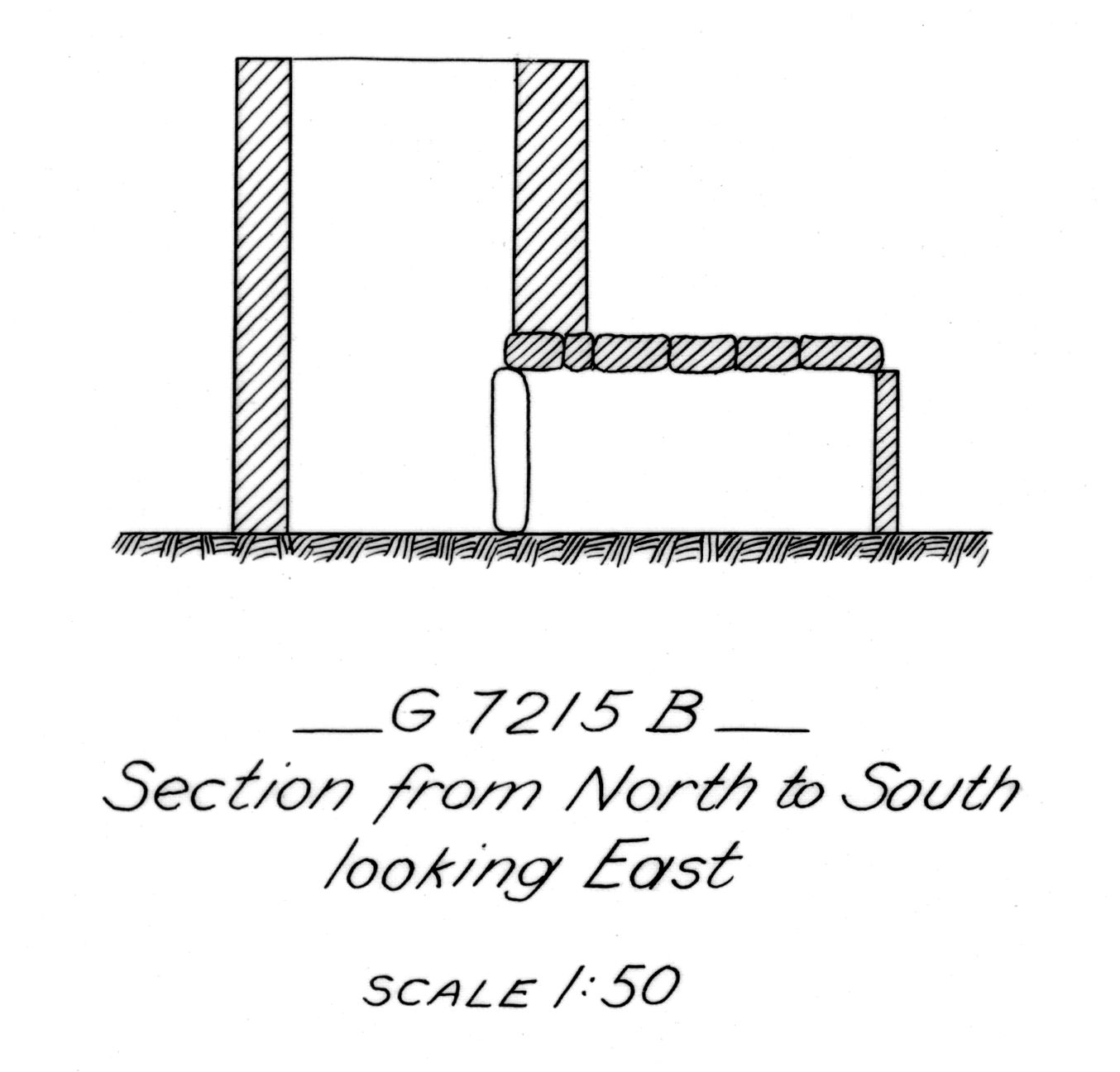 Maps and plans: G 7215, Shaft B