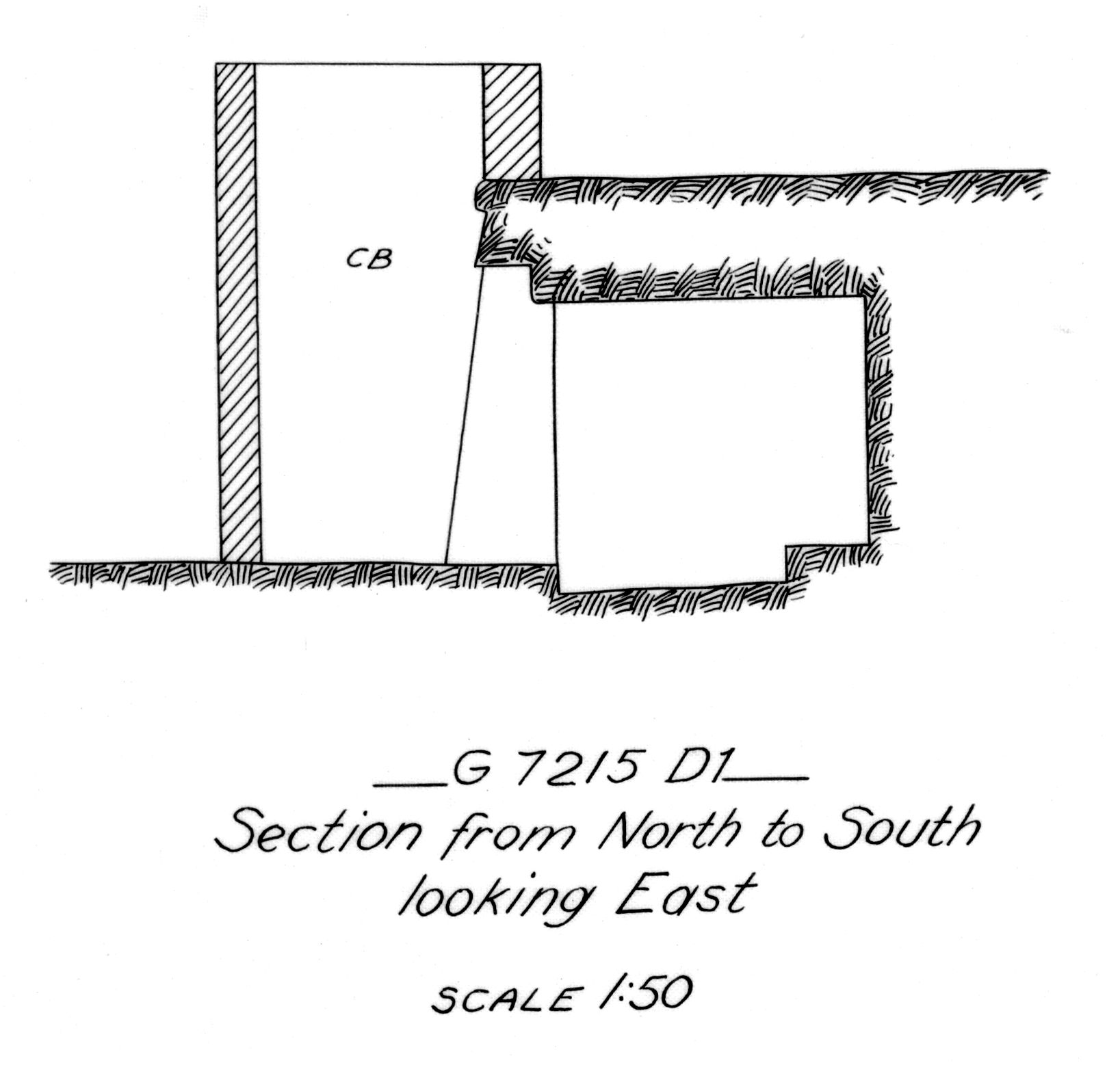 Maps and plans: G 7215, Shaft D1