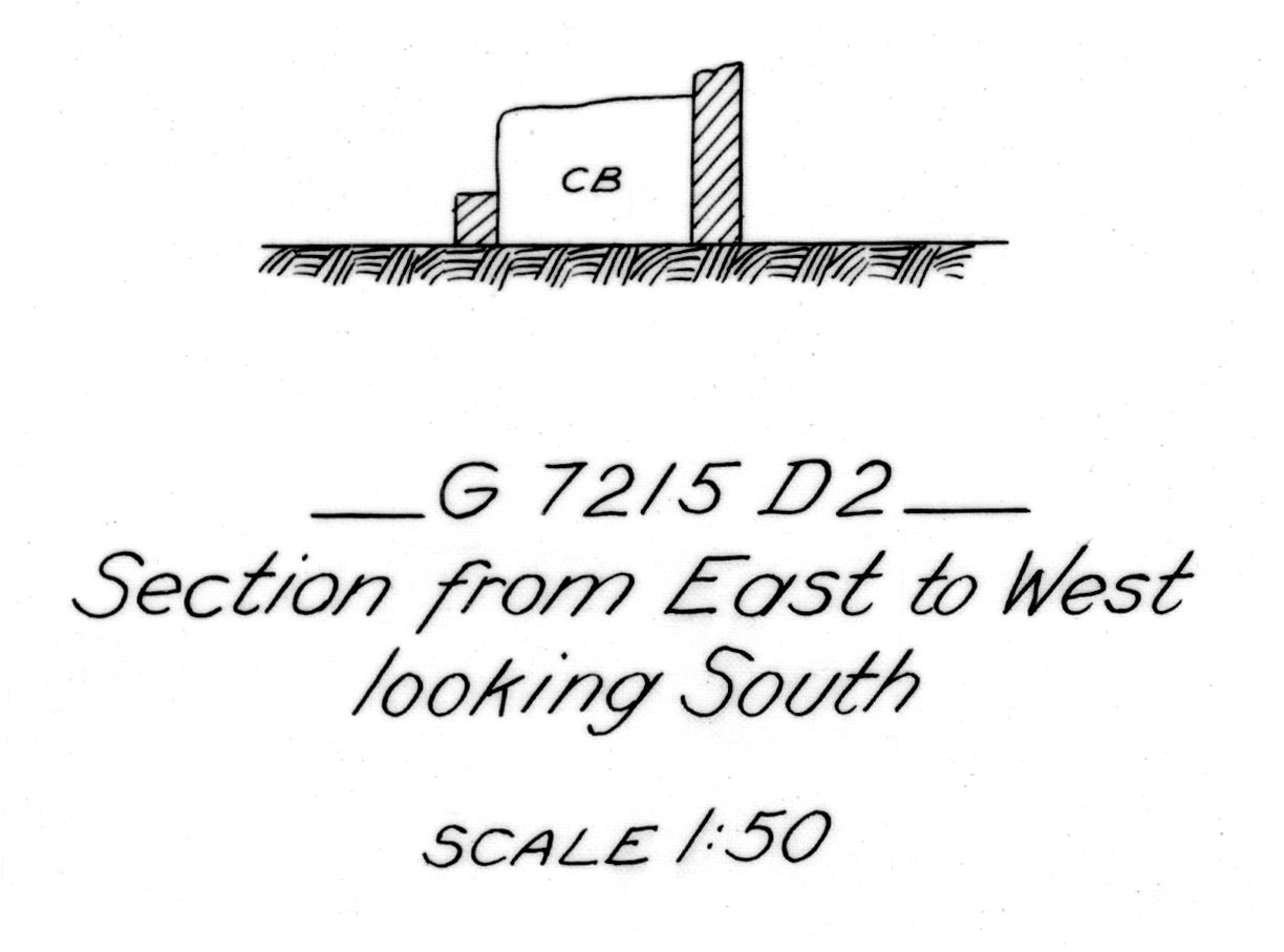 Maps and plans: G 7215, Shaft D2