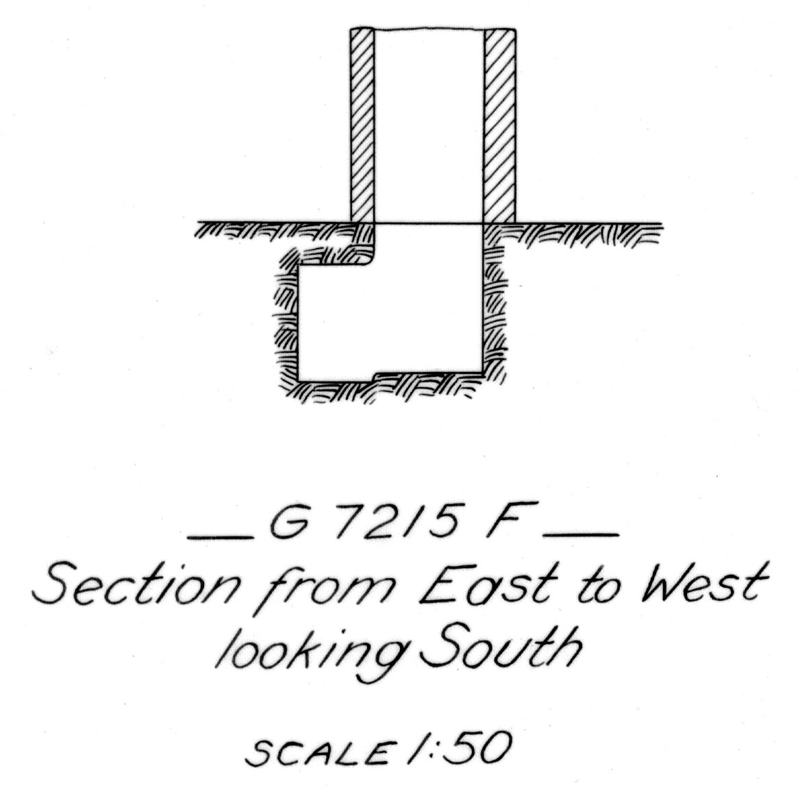 Maps and plans: G 7215, Shaft F